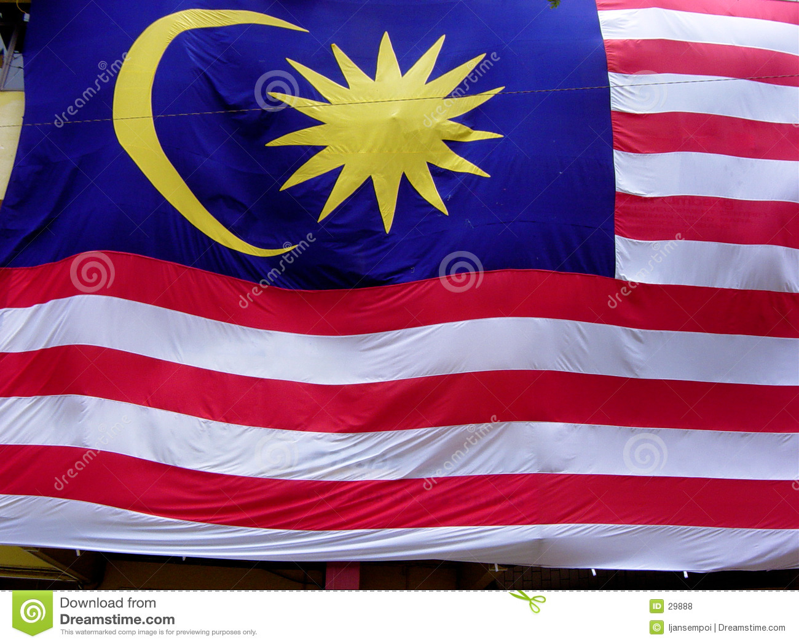 De vlag van Maleisië