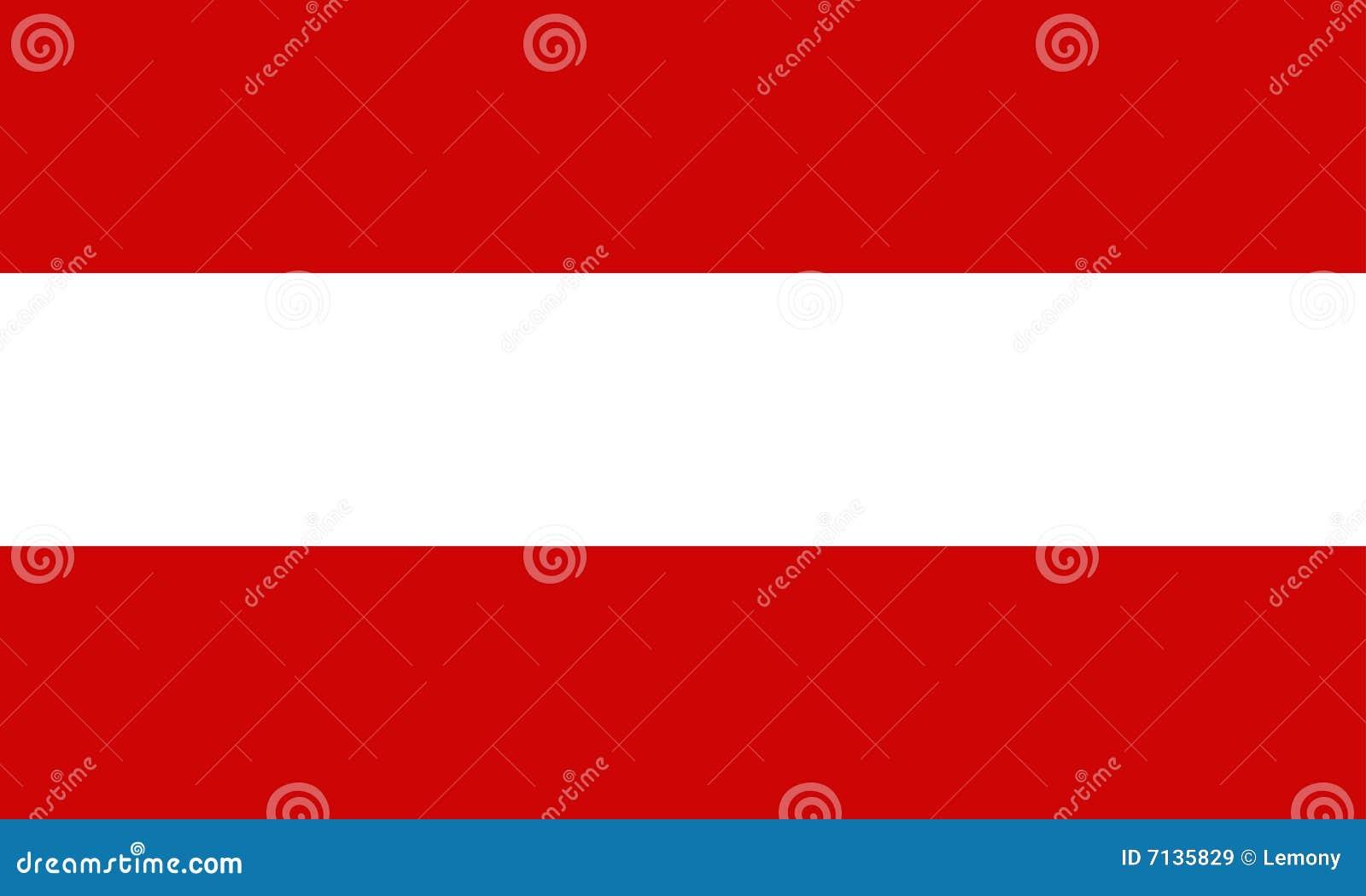 De vlag van Oostenrijk