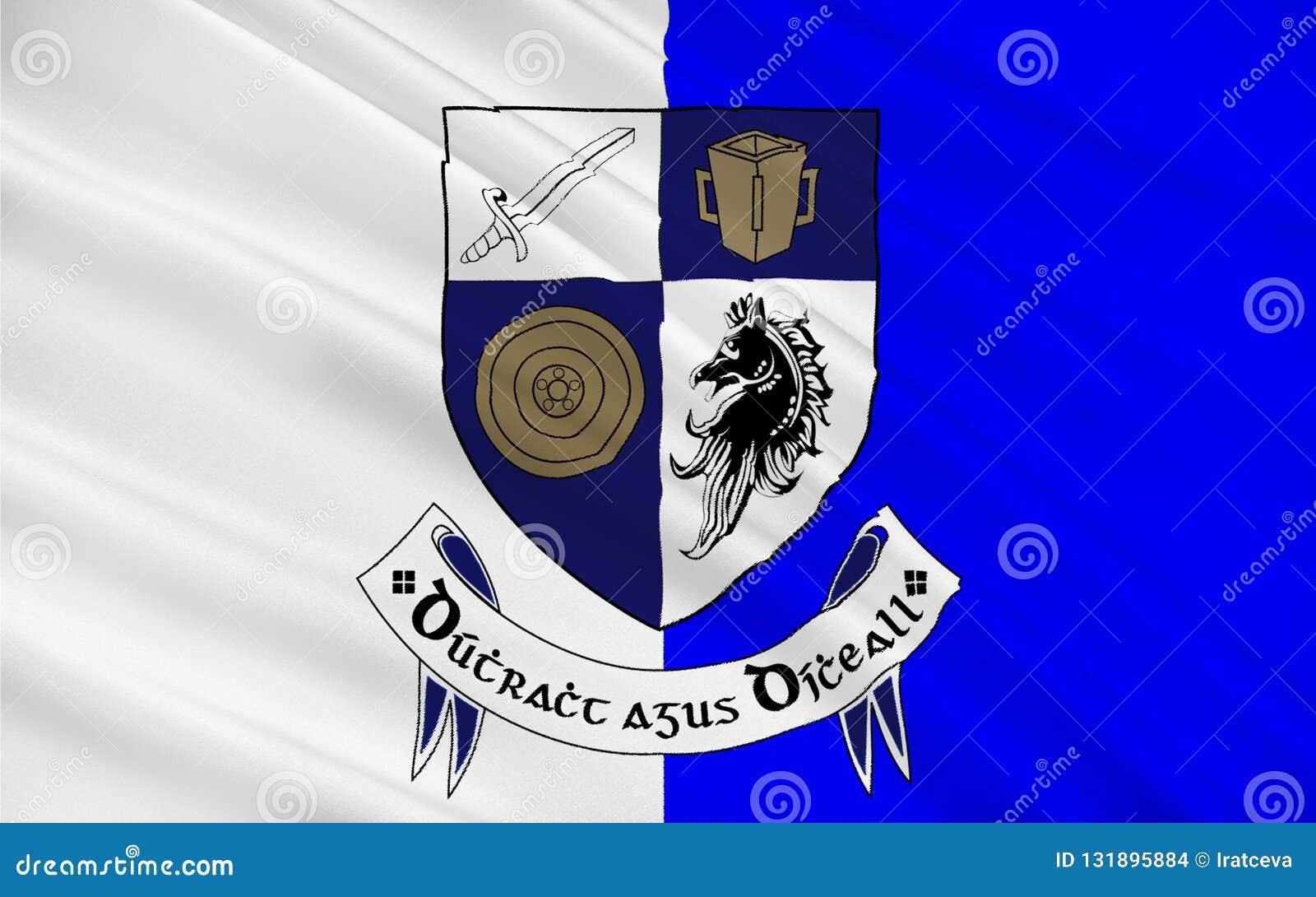 De vlag van Provincie Monaghan is een provincie in Ierland