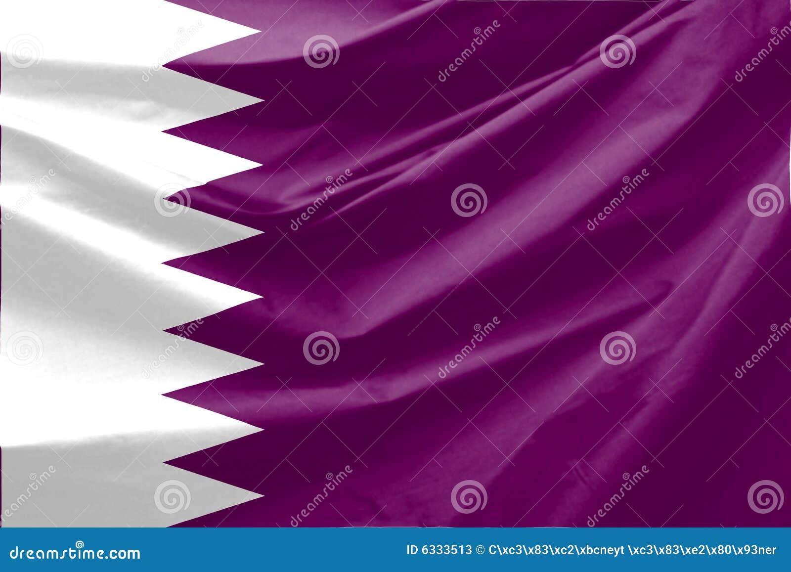 De Vlag van Qatar