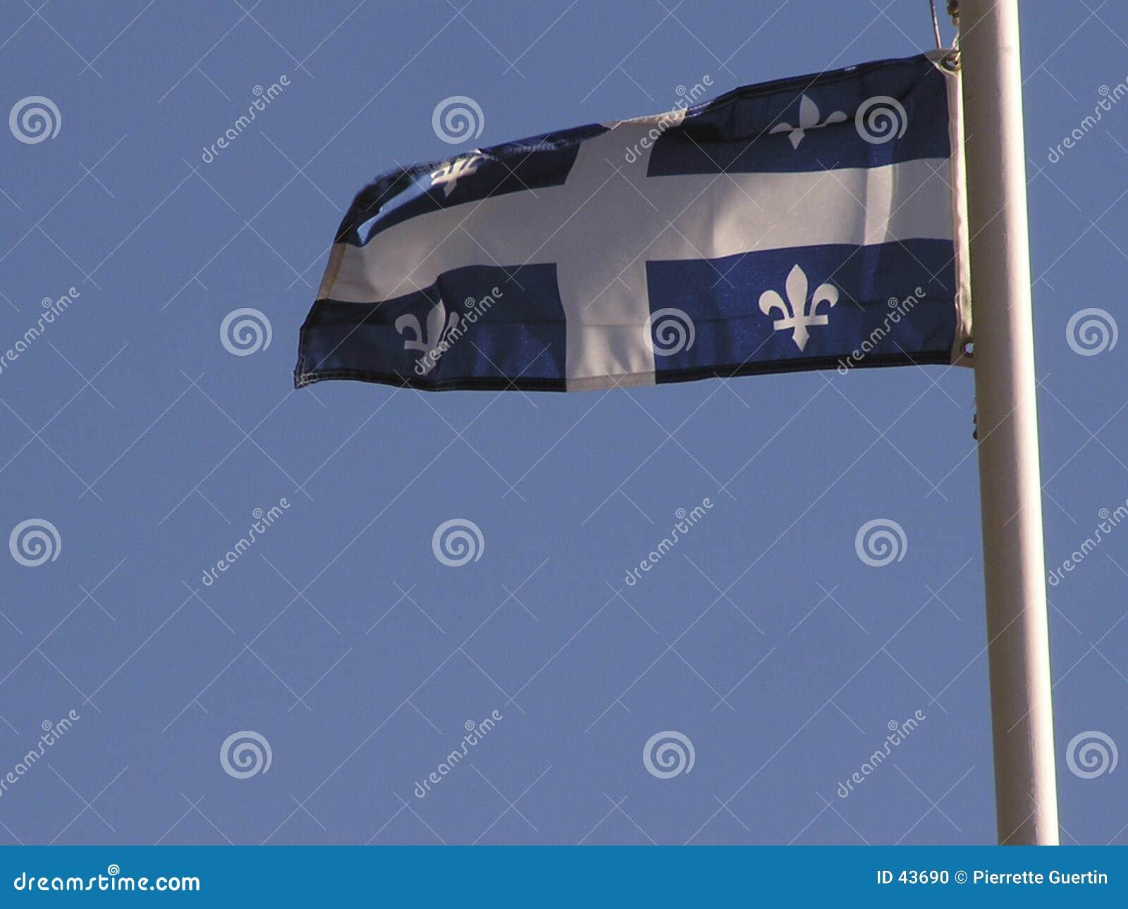 De vlag van Quebec
