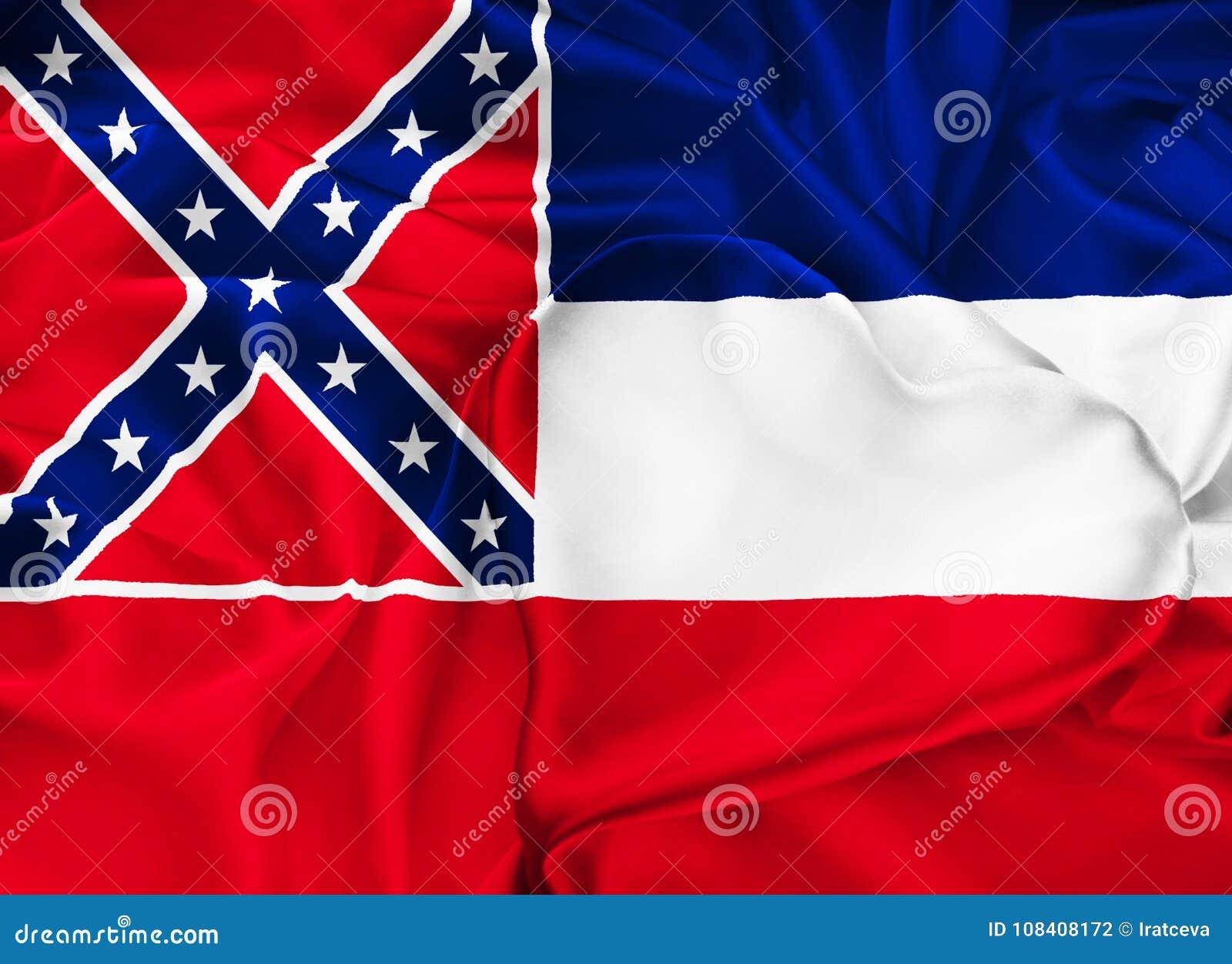 De vlag van de staat van de Mississippi
