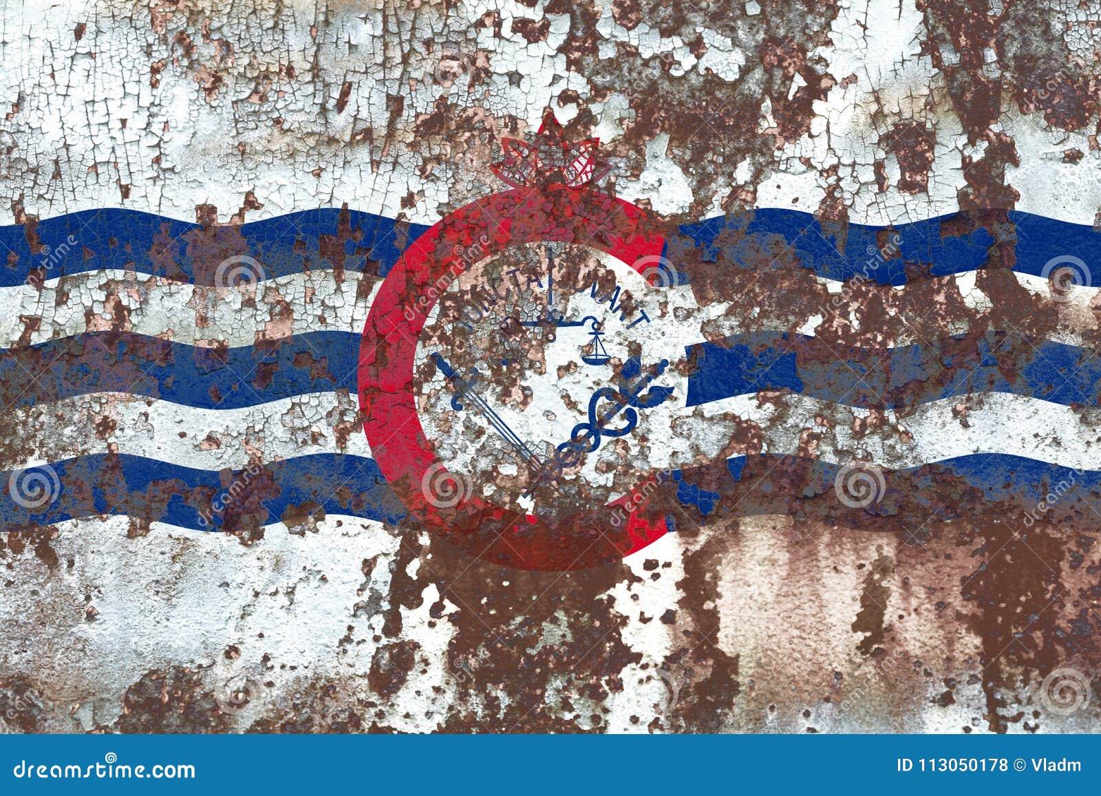 De vlag van de de stadsrook van Cincinnati, de Staat van Ohio, de Verenigde Staten van Amerika