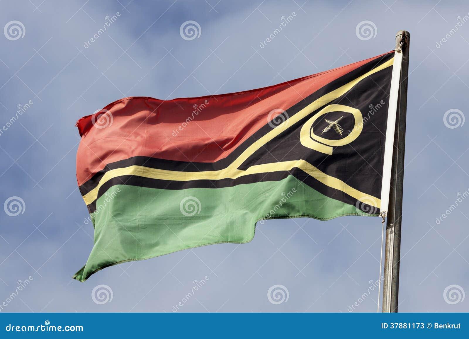De vlag van Vanuatu