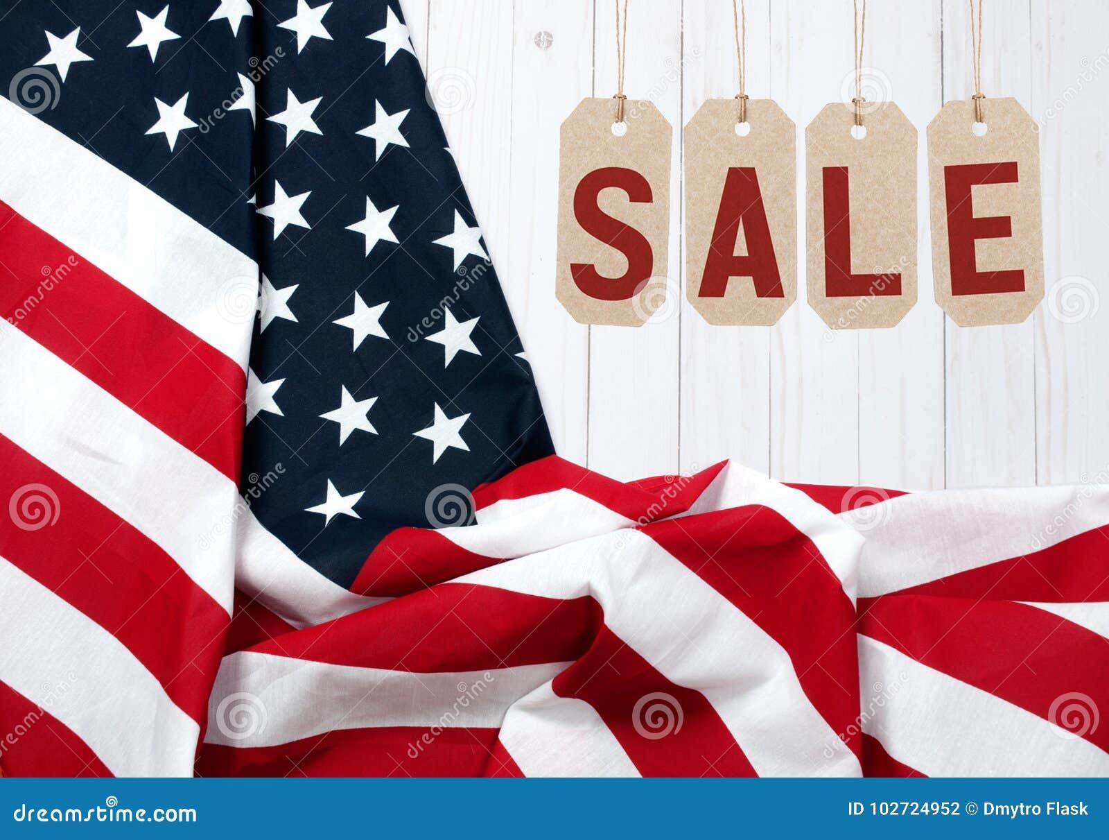 De vlag van Verenigde Staten Amerikaanse vakantie Verkoop