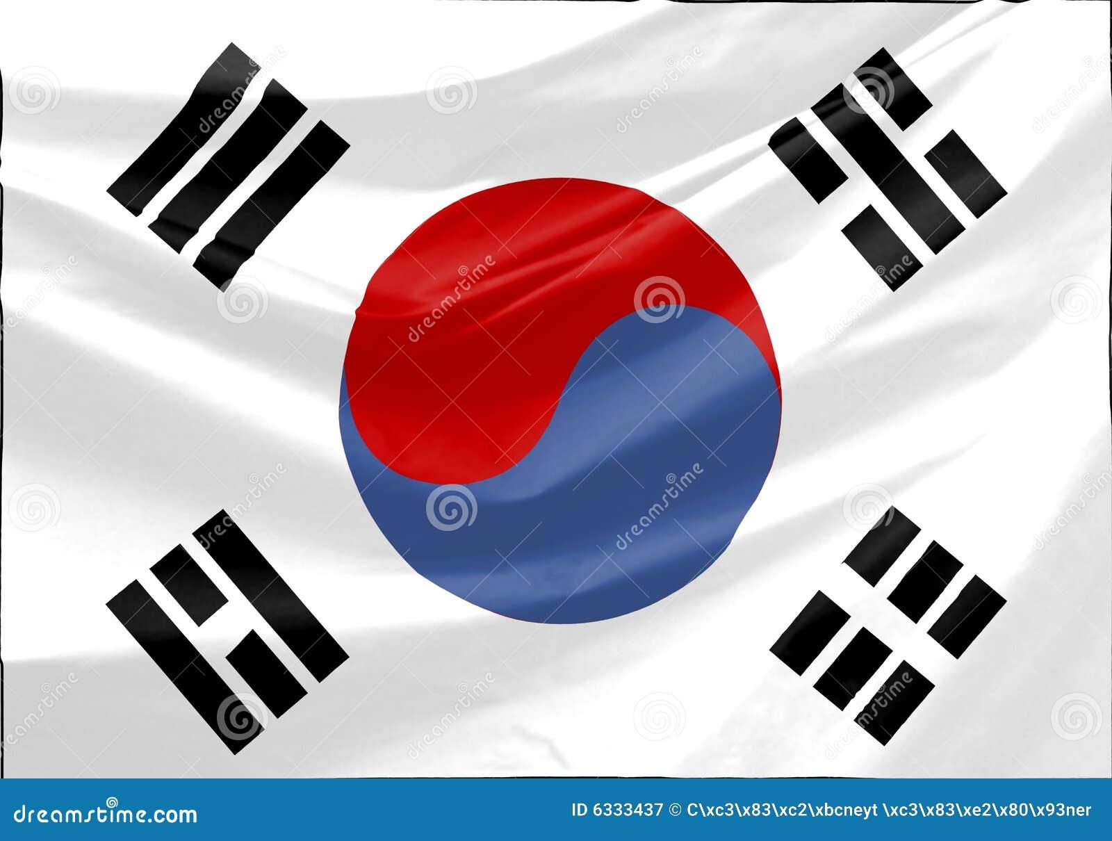 De Vlag van Zuid-Korea