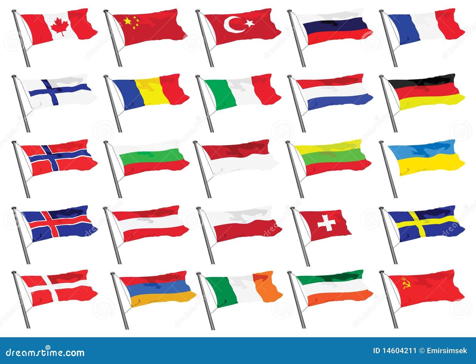 De vlaggen van de wereld stock afbeelding afbeelding 14604211 - Vloerlamp van de wereld ...