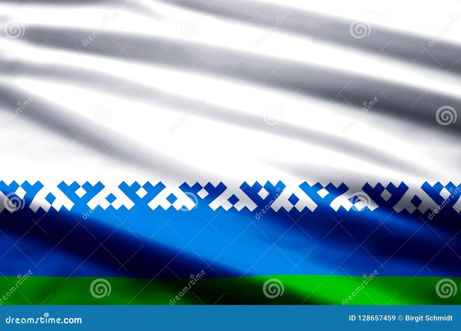 De vlagillustratie van het Nenets Autonome District