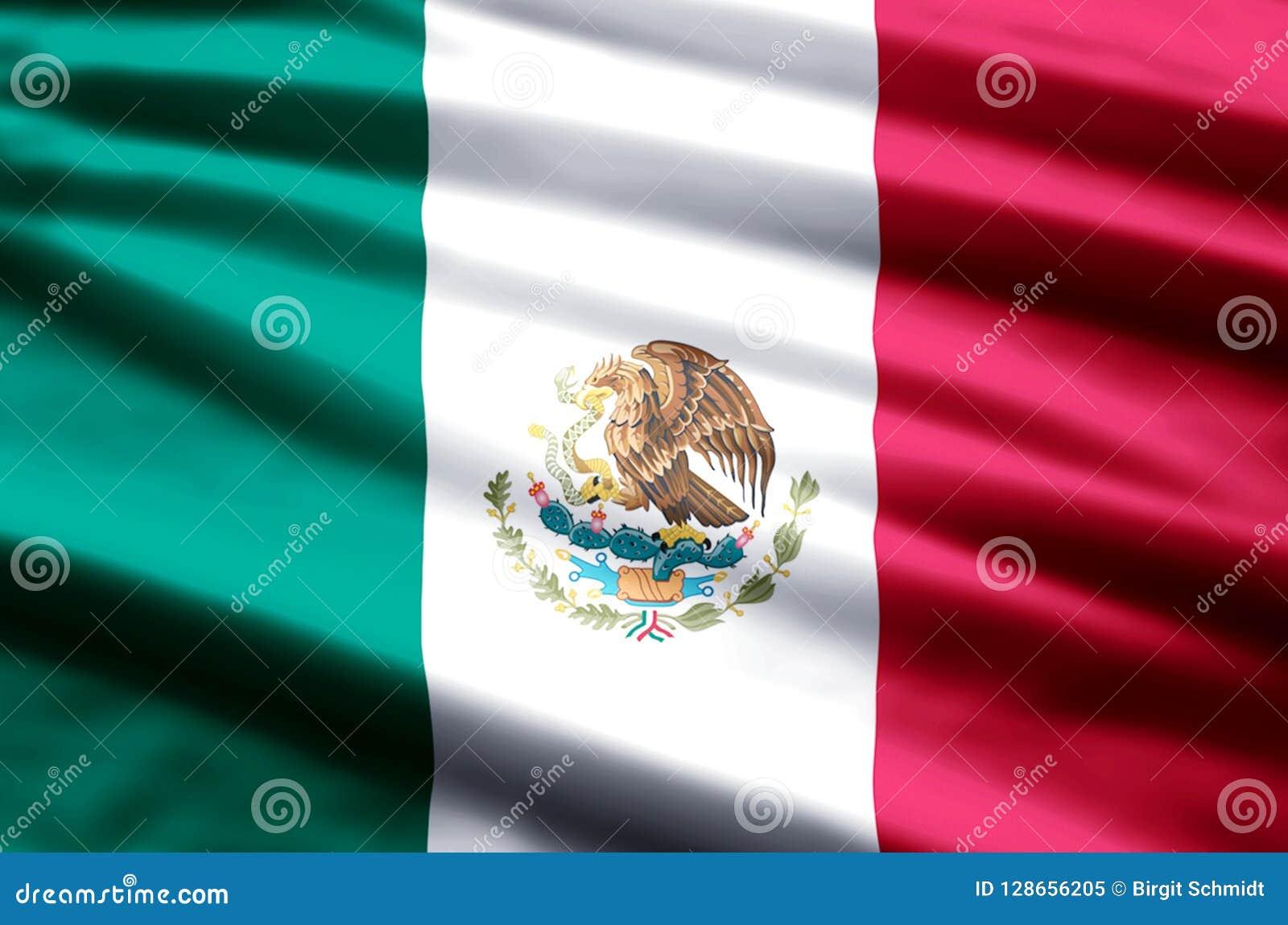 De vlagillustratie van Mexico