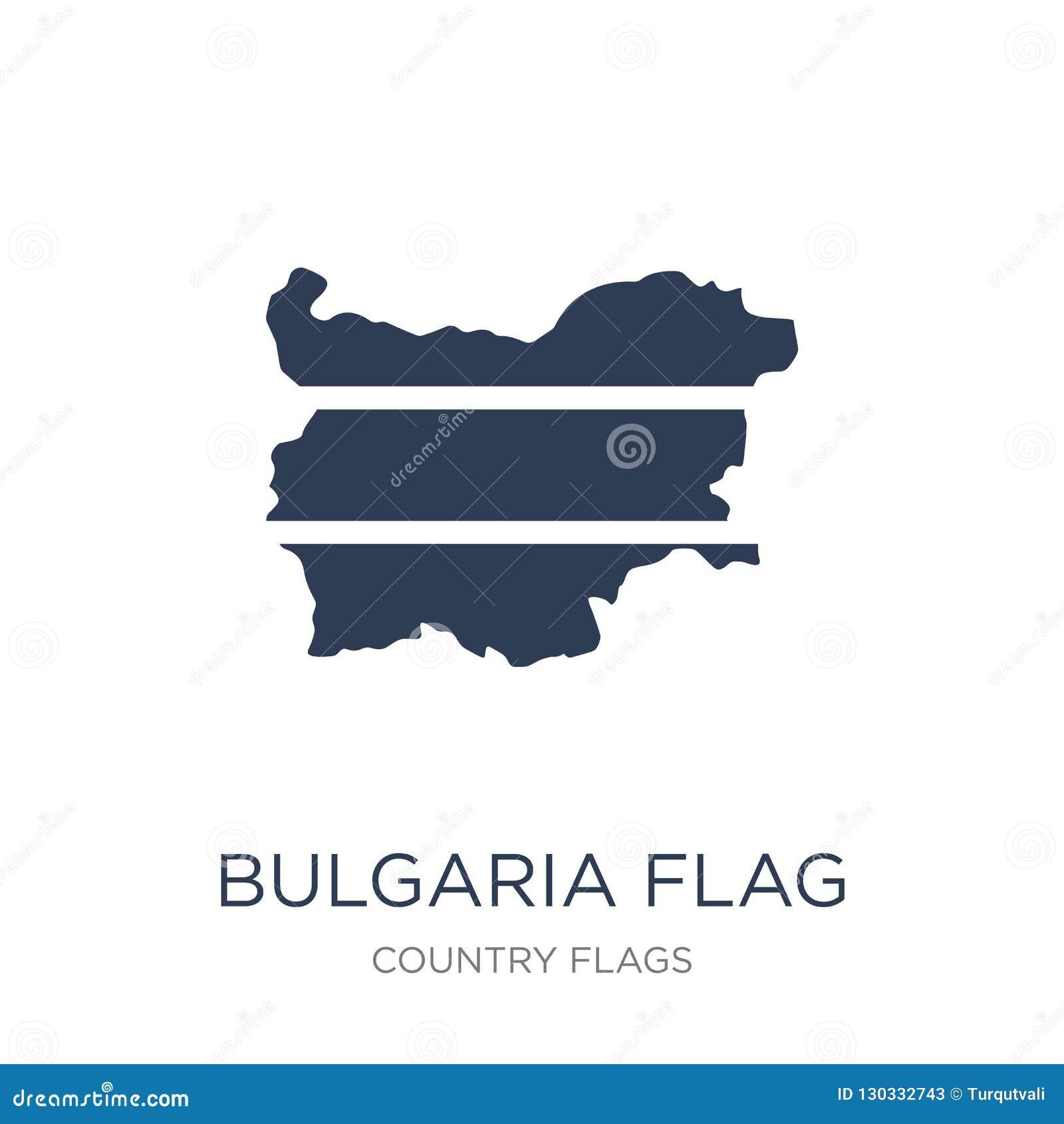 De vlagpictogram van Bulgarije