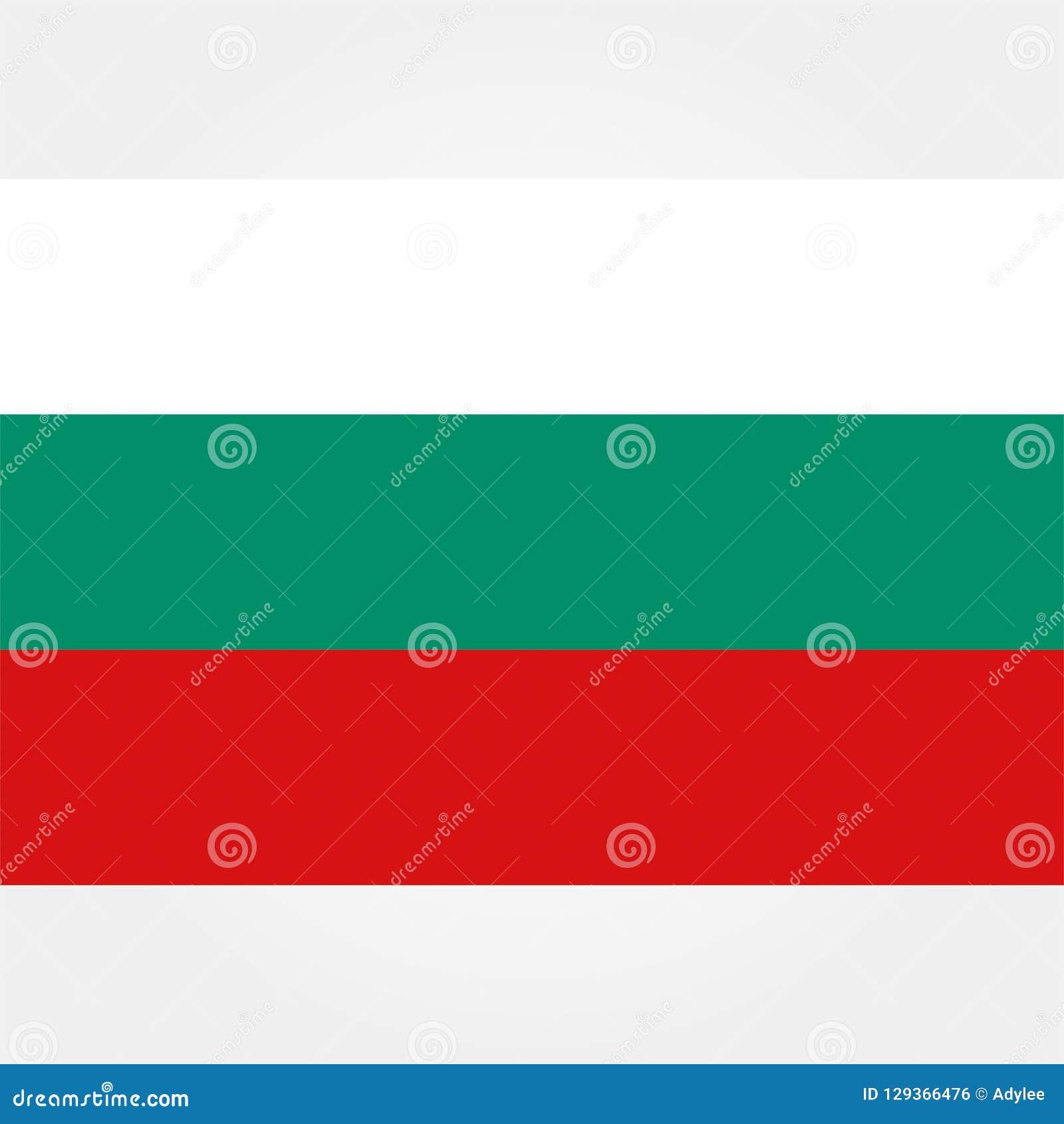 De vlagpictogram 1 van voorraad vectorbulgarije
