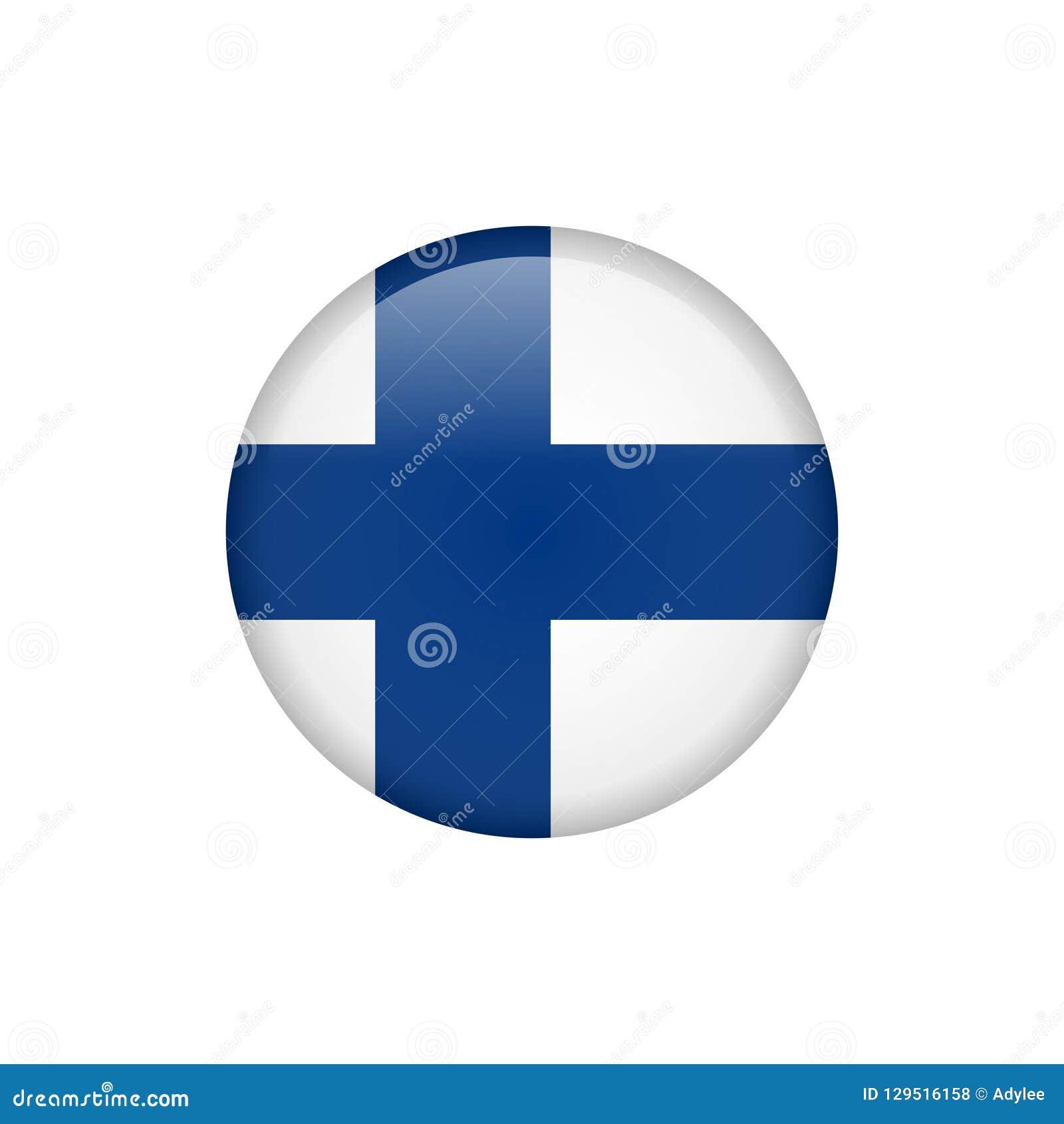 De vlagpictogram 5 van voorraad vectorfinland