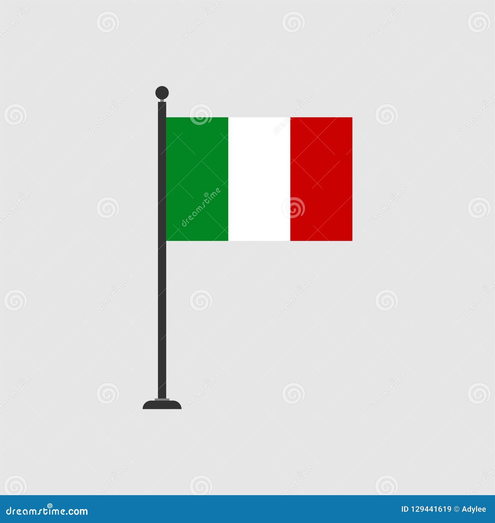De vlagpictogram 3 van voorraad vectoritalië