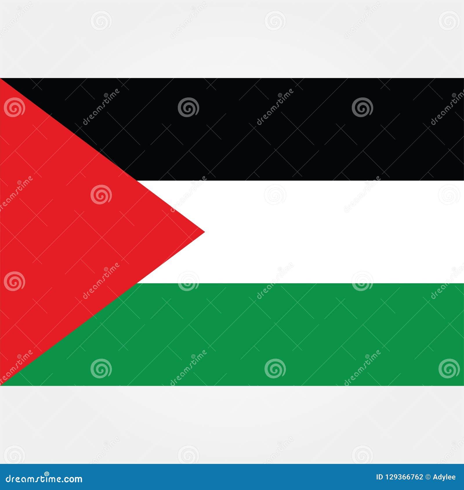 De vlagpictogram 1 van voorraad vectorpalestina Gaza