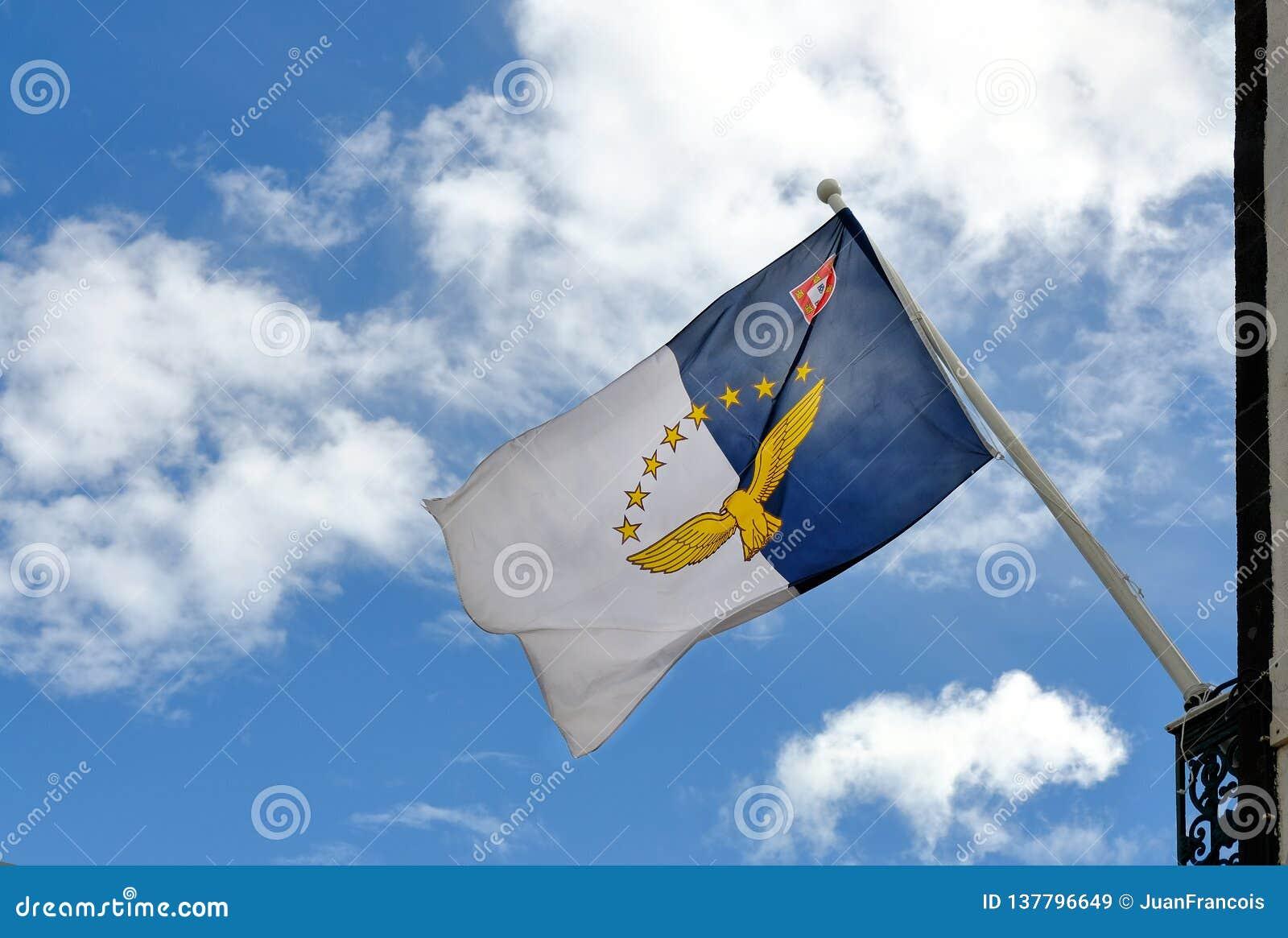 De vlagstroom van de Azoren