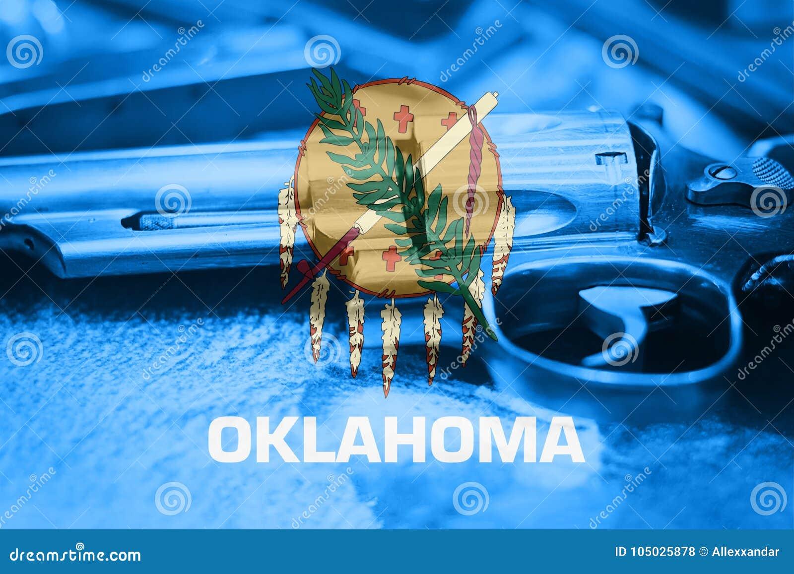 De vlagu van Oklahoma S het Kanoncontrole de V.S. van de staat Het Kanonla van Verenigde Staten