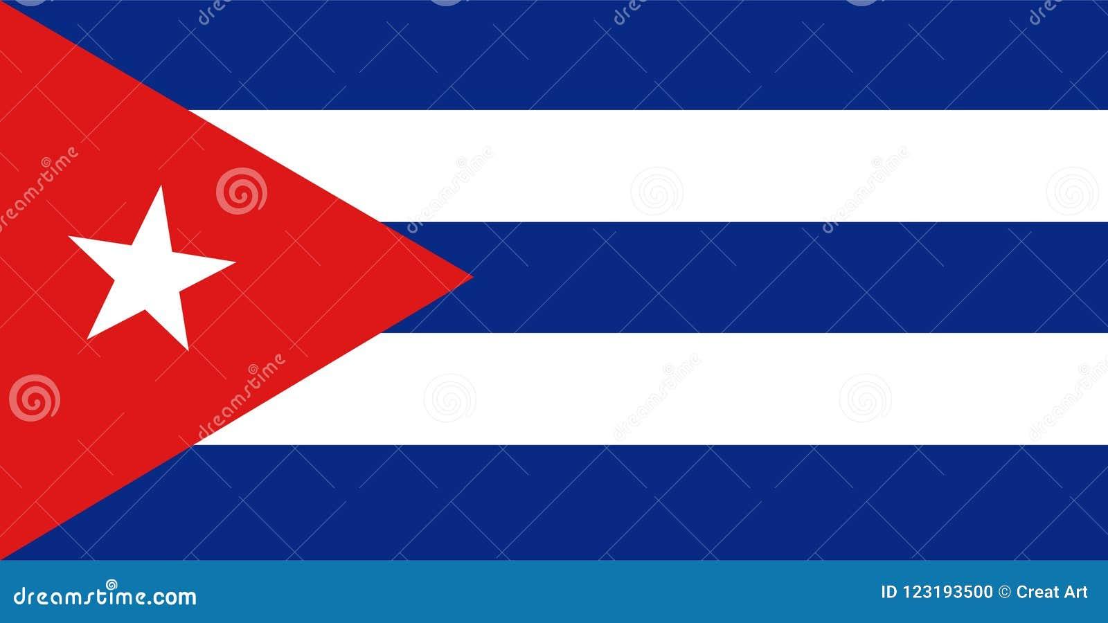 De vlagvector van Cuba Illustratie van de vlag van Cuba