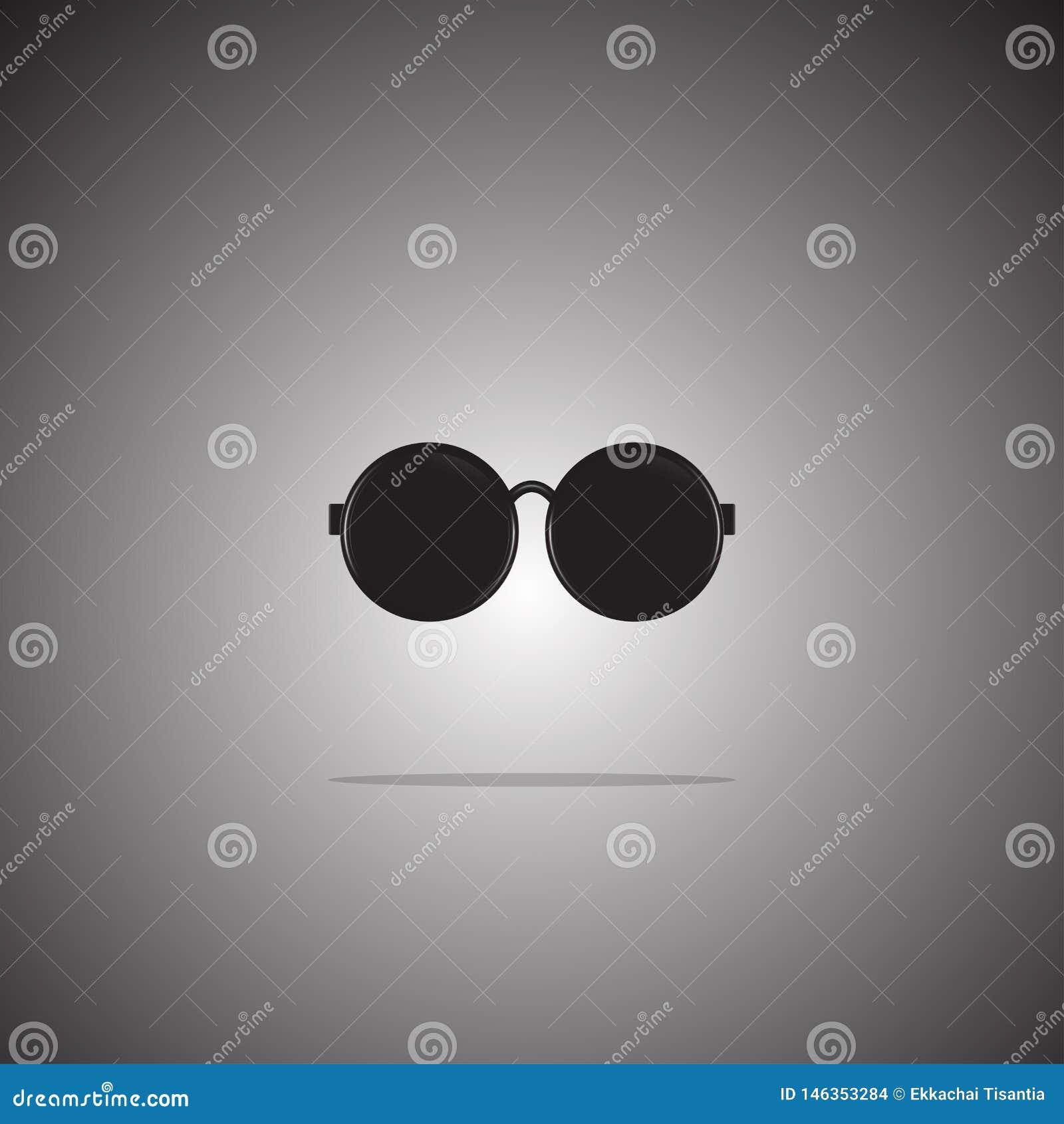 De vlakke stijl van het zonnebrilpictogram op gradi?ntachtergrond Vector Illustratie