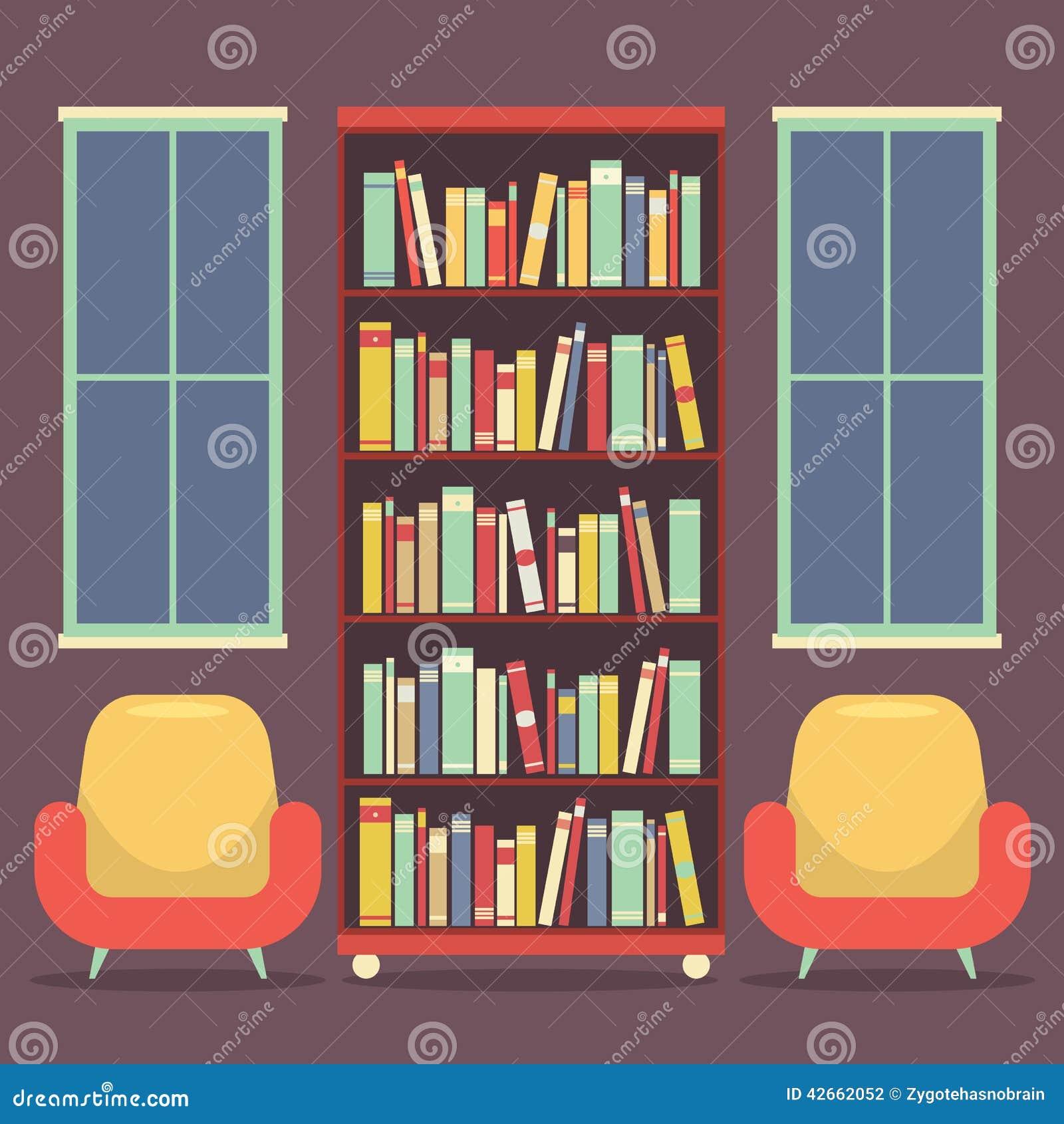 https://thumbs.dreamstime.com/z/de-vlakke-zetels-en-de-boekenkast-van-de-ontwerplezing-42662052.jpg