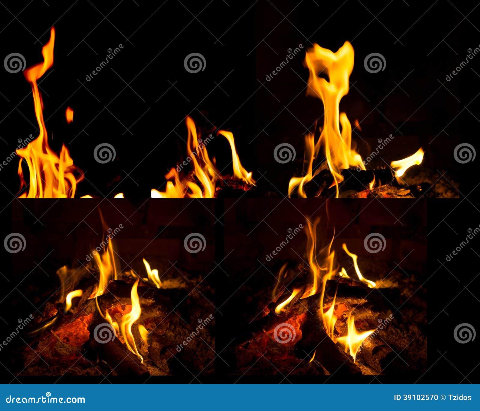 De vlammen van de mengelingsbrand
