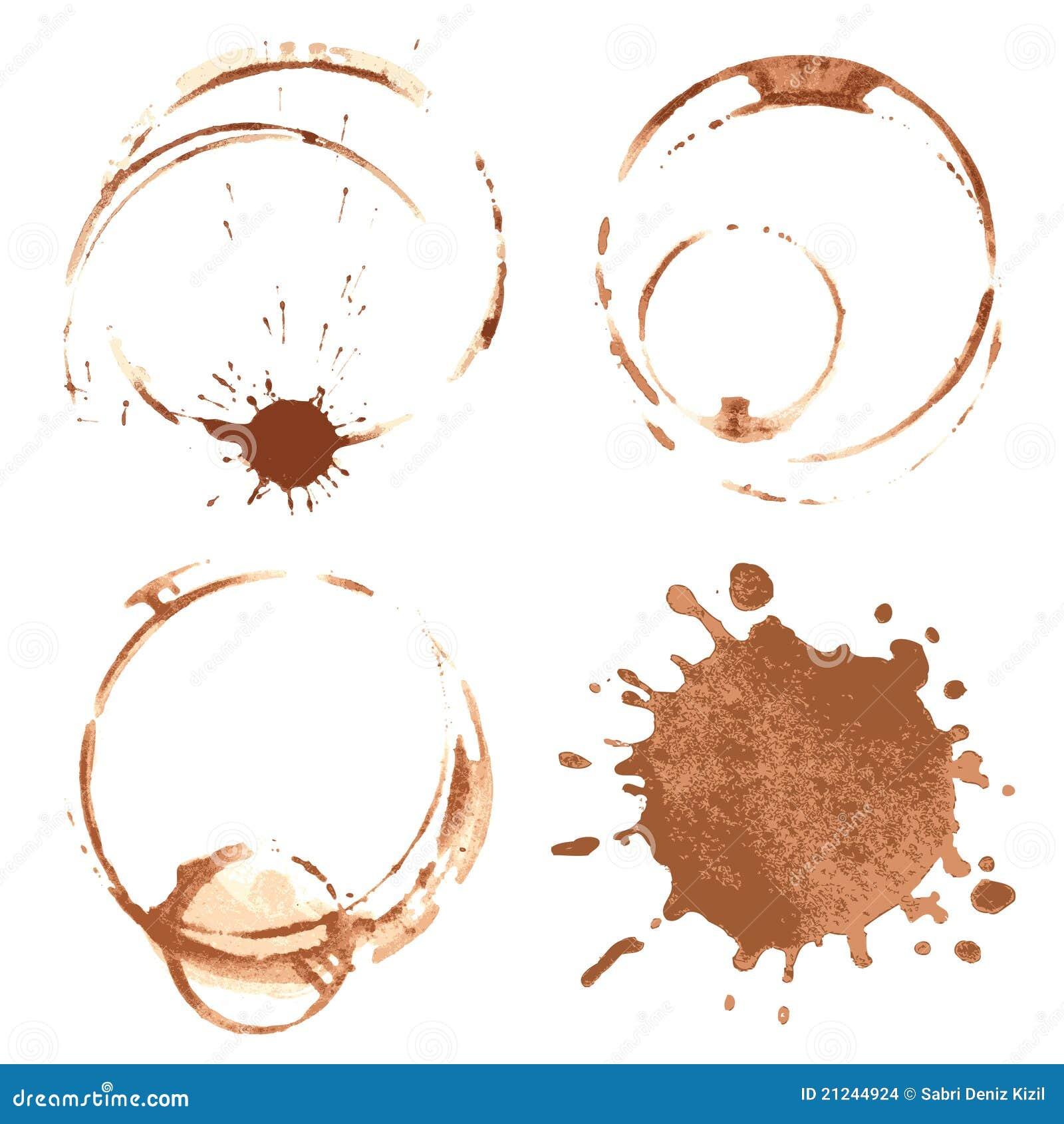 De vlekken van de koffie