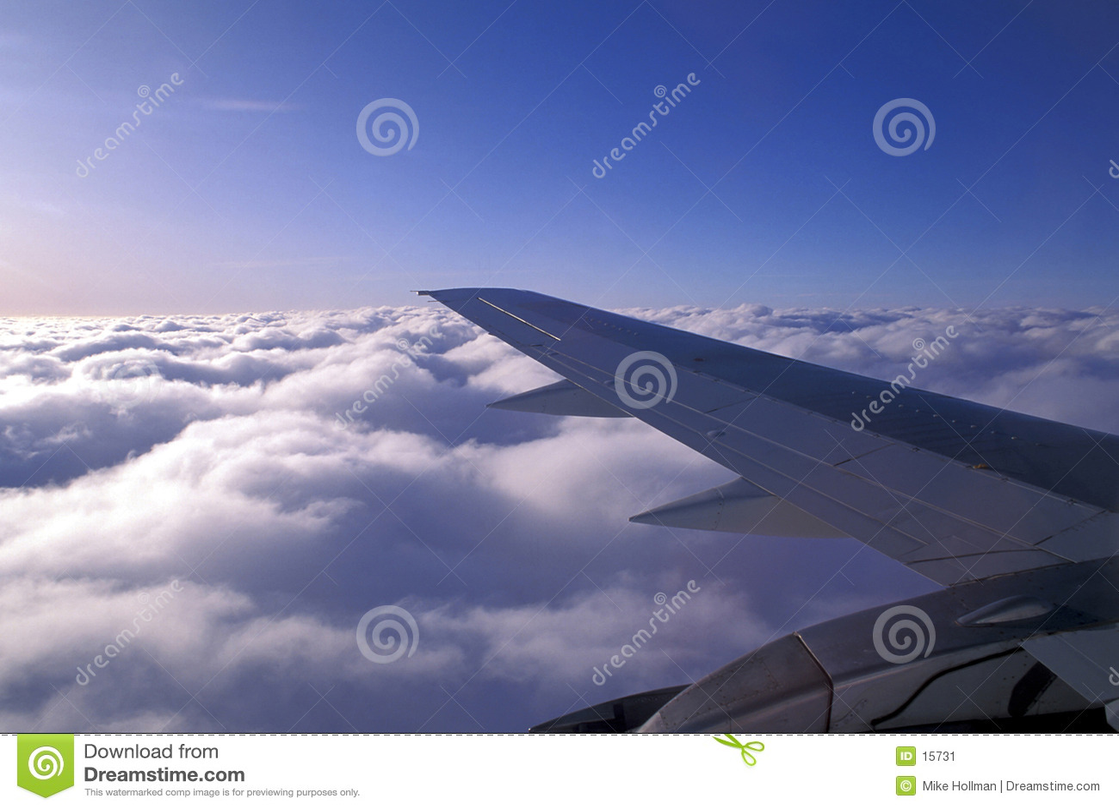 De vleugel van vliegtuigen