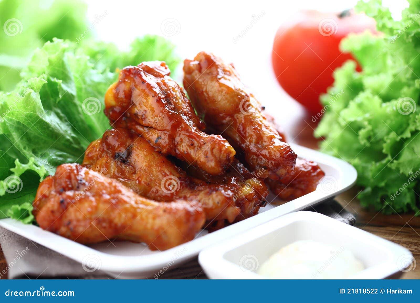 De vleugels van de kip