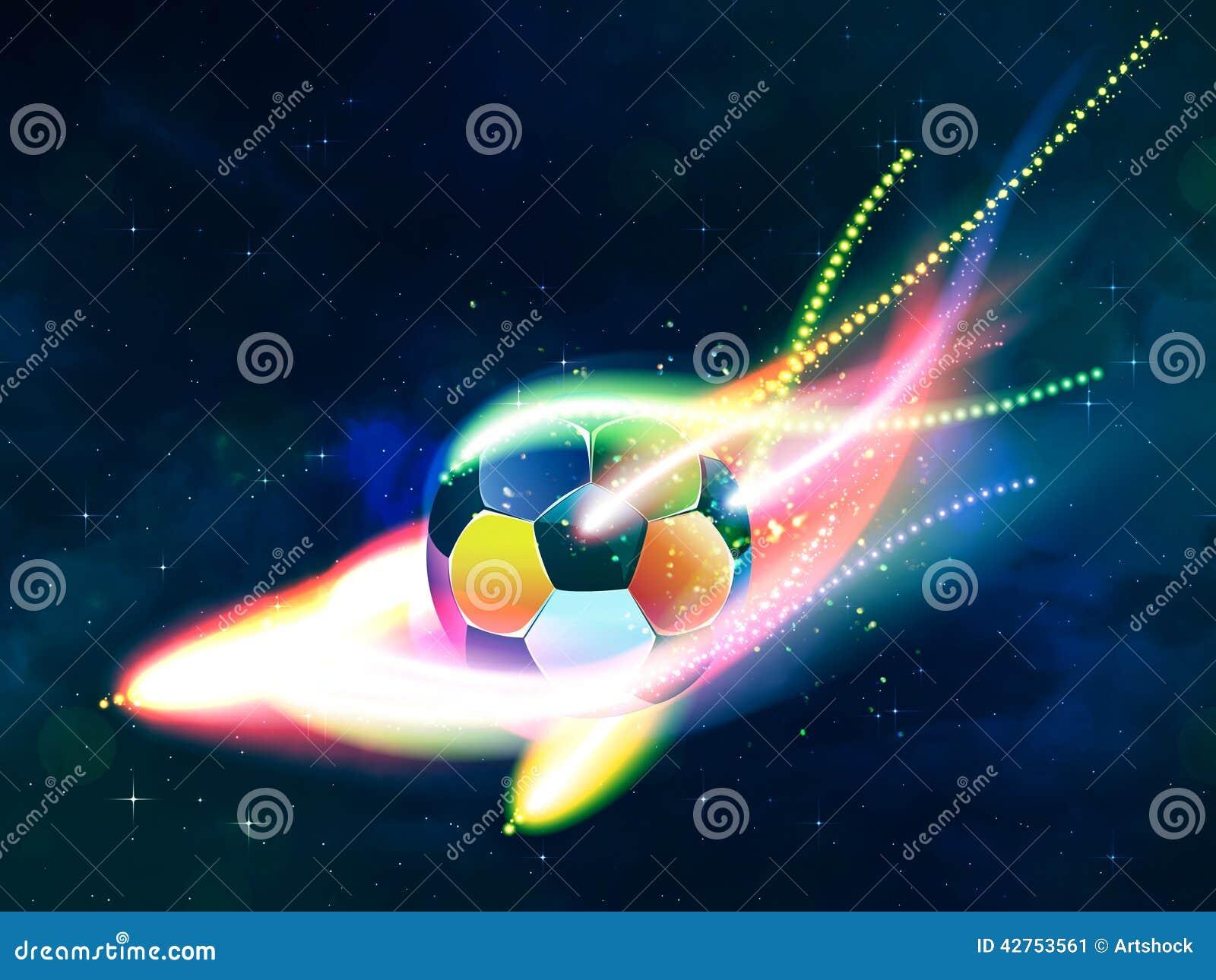 De vliegende bal van het Voetbal