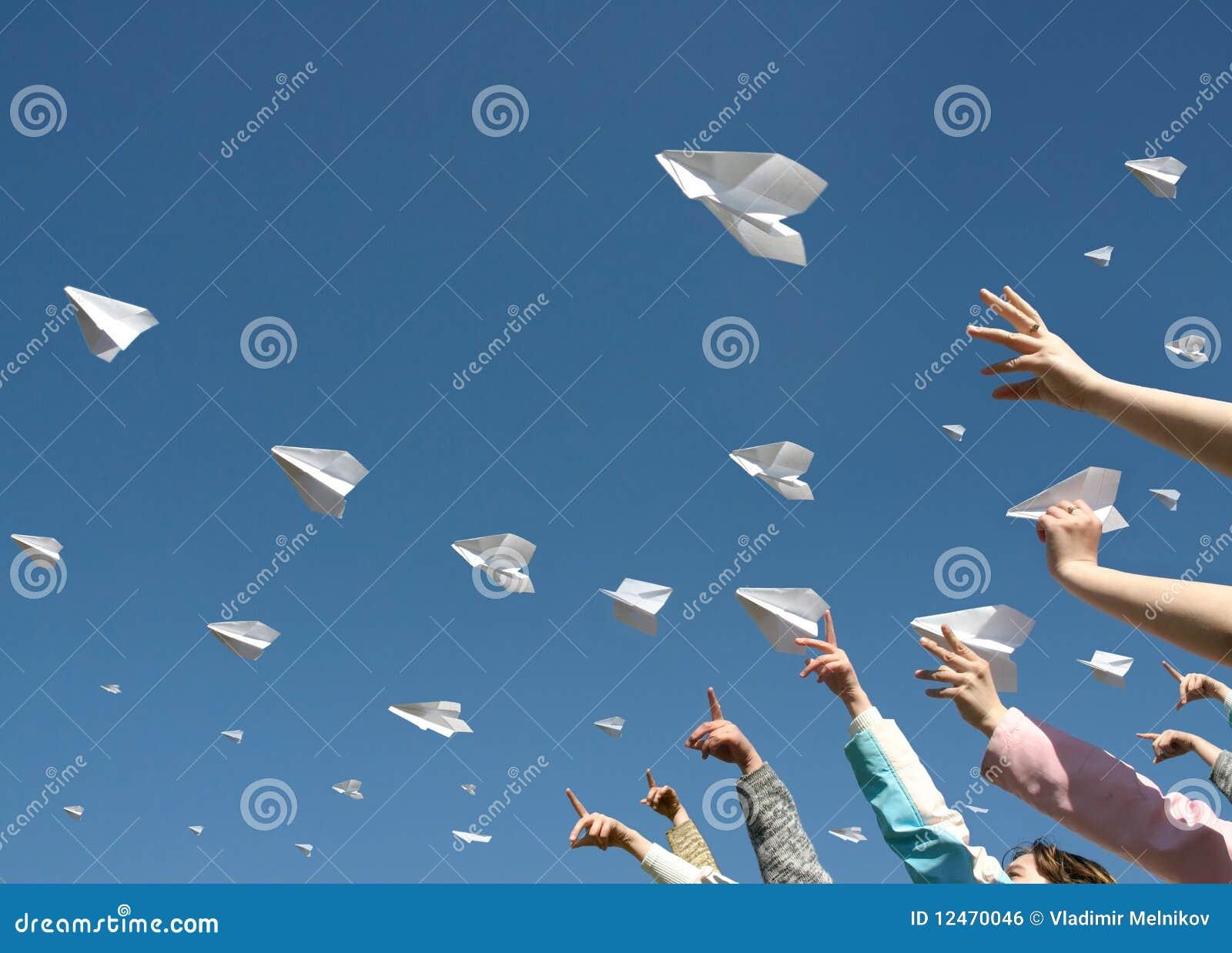 De vliegtuigen van het document