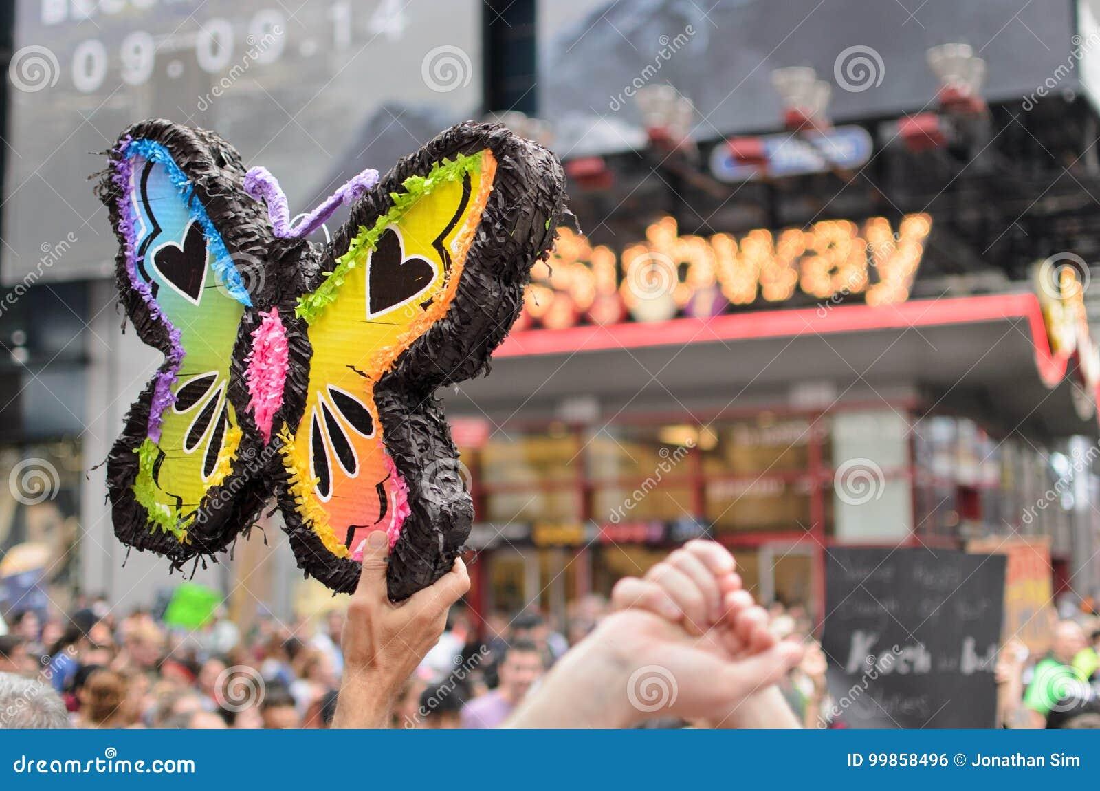 De vlinder van de regenboog