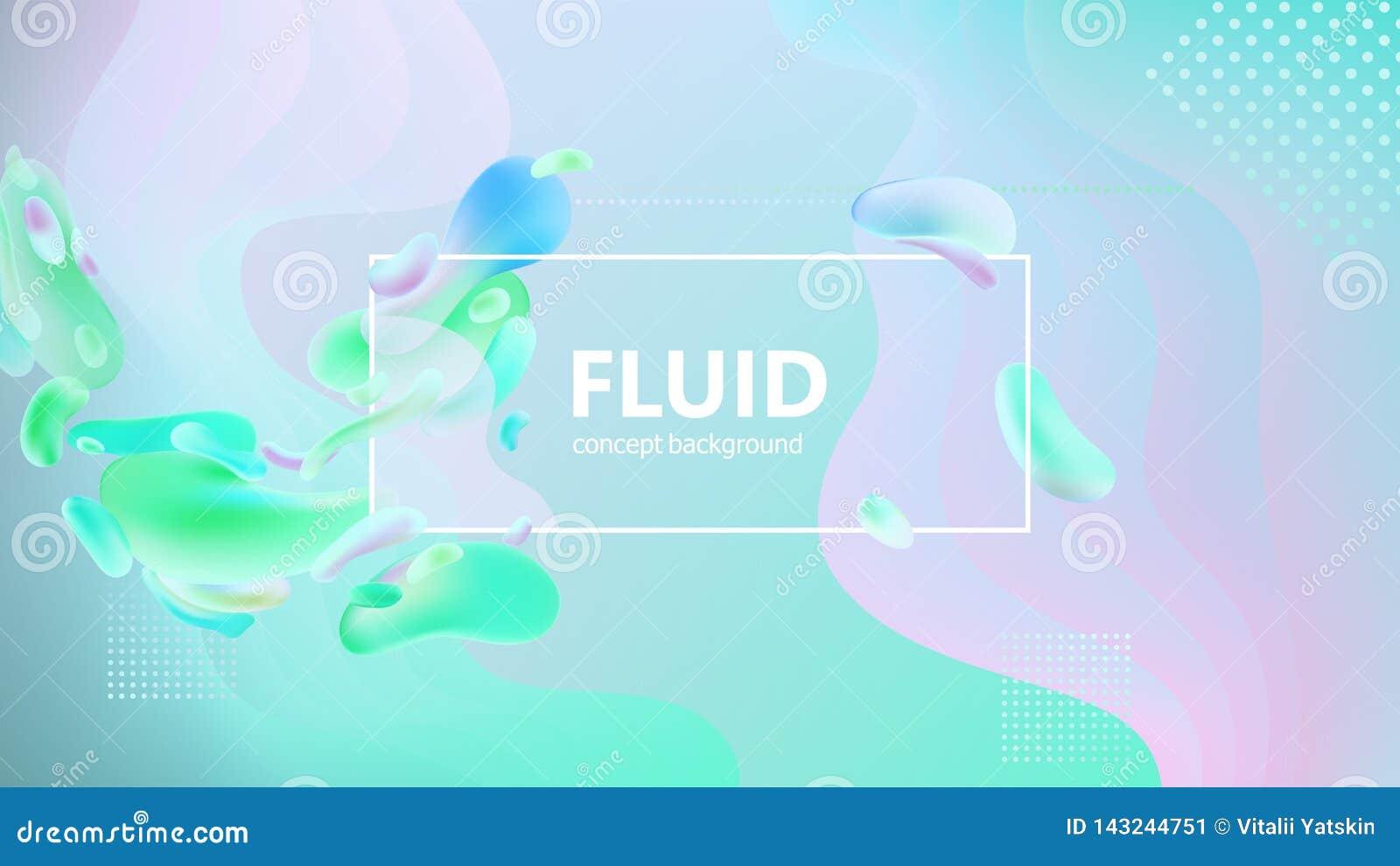 De vloeibare gradiënt geeft samenstelling gestalte Vloeibaar kleurenontwerp als achtergrond Ontwerpaffiches Vector illustratie