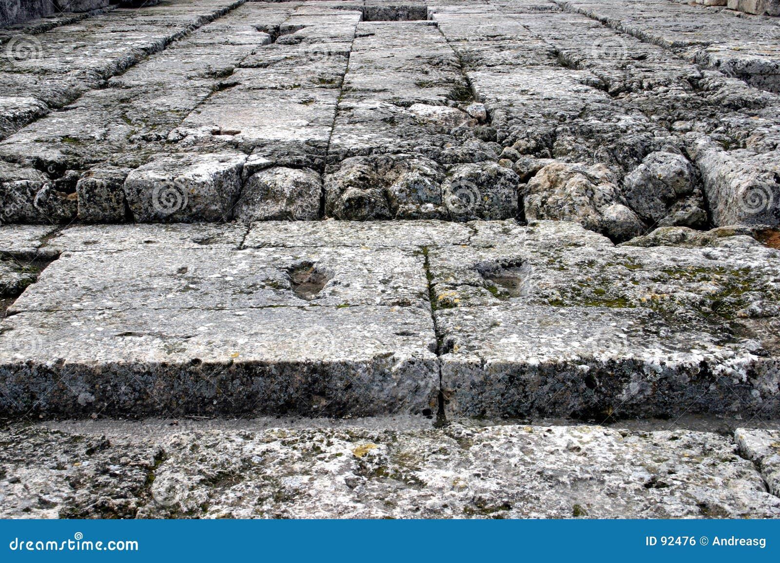 De vloer van de steen