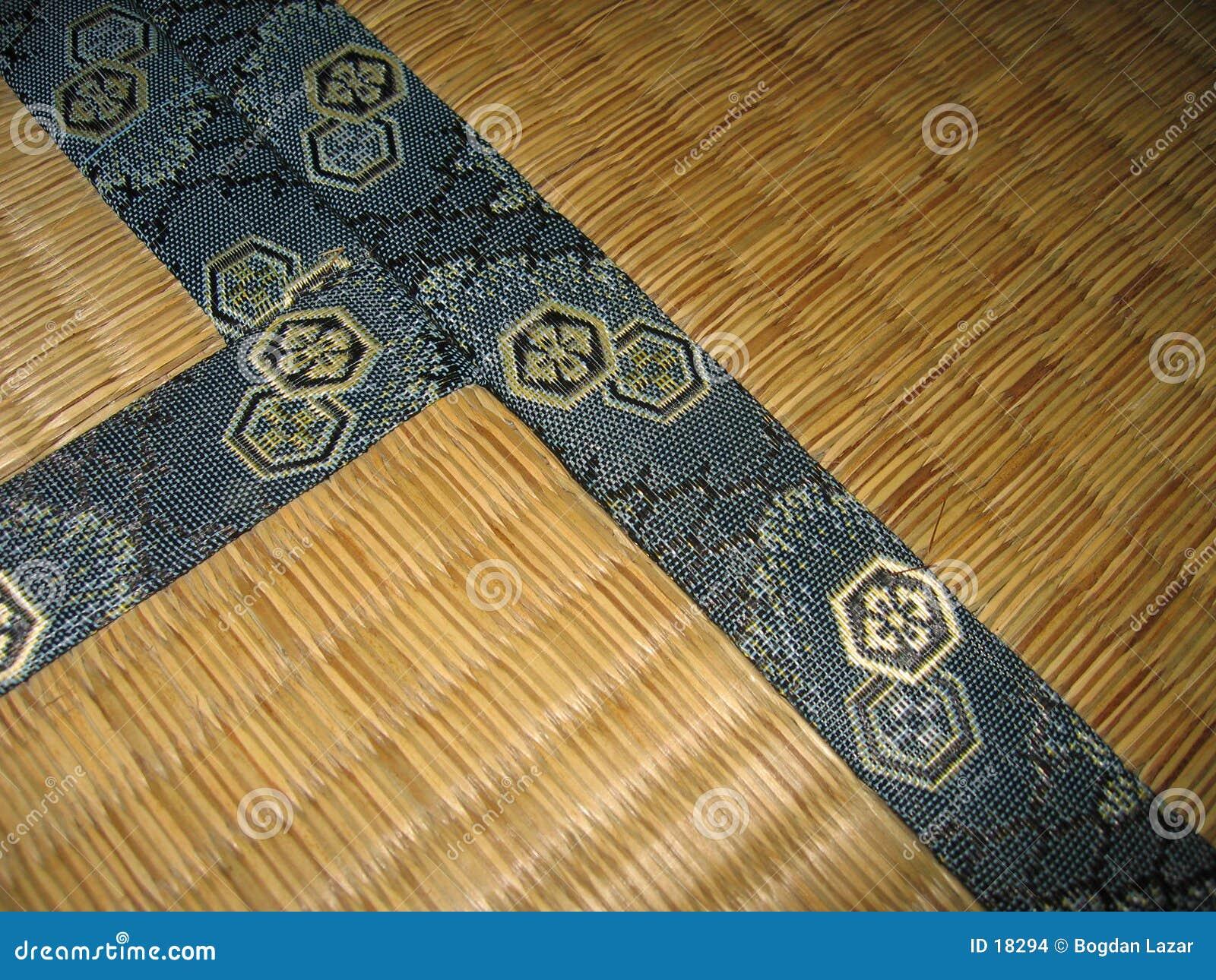 De vloer van Tatami - detail