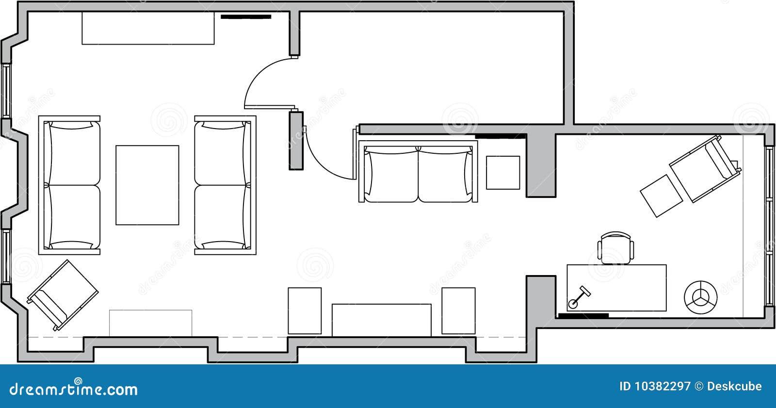 De Vloerplan Van Architectuur Royalty vrije Stock