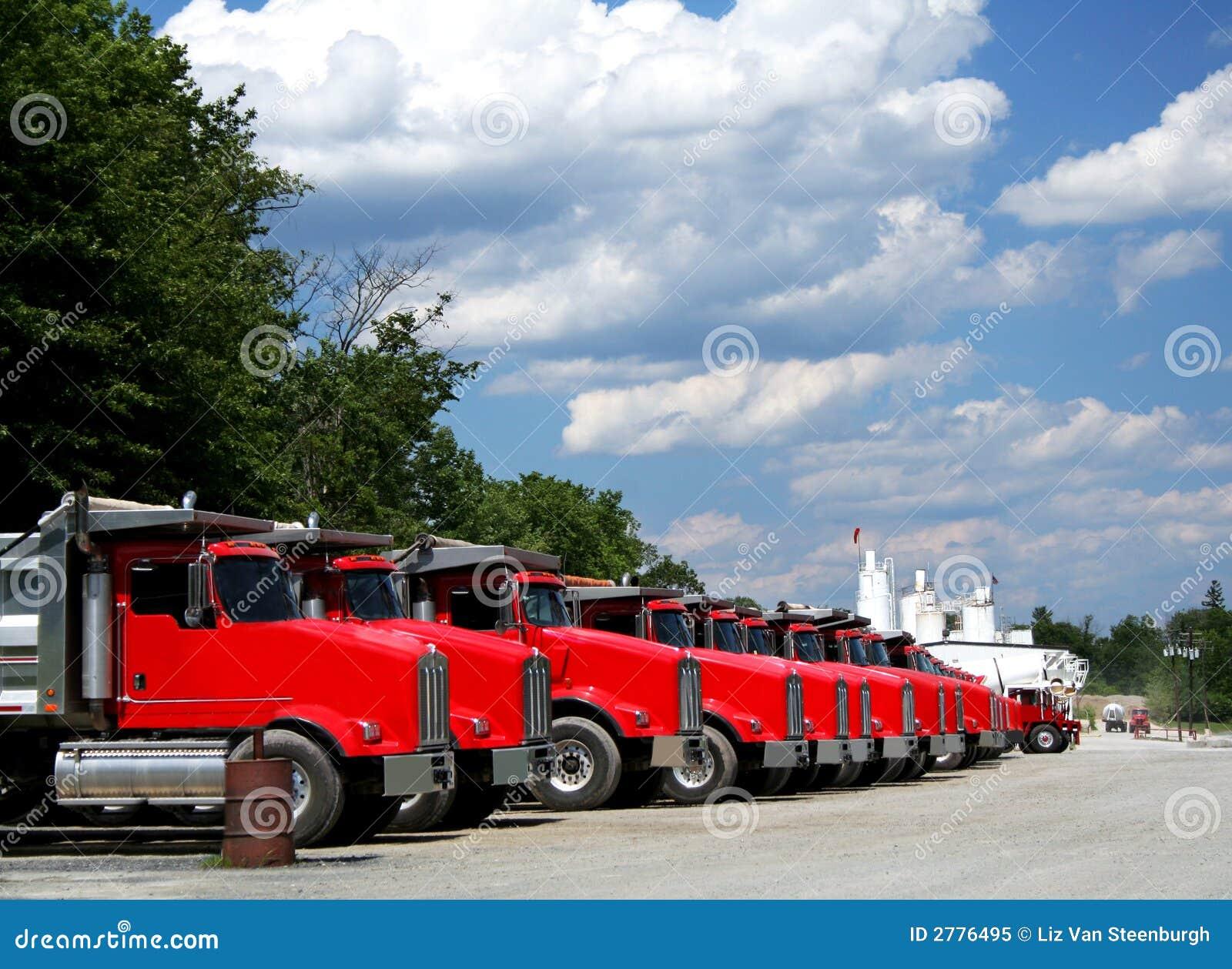 De Vloot van de vrachtwagen