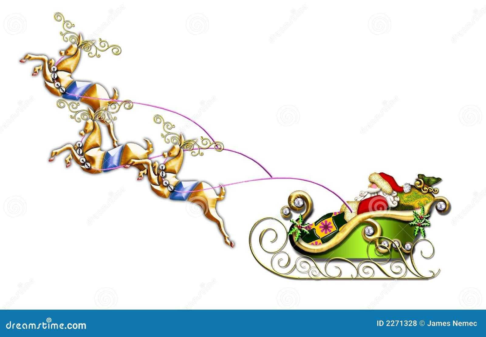 De vlucht van de kerstman