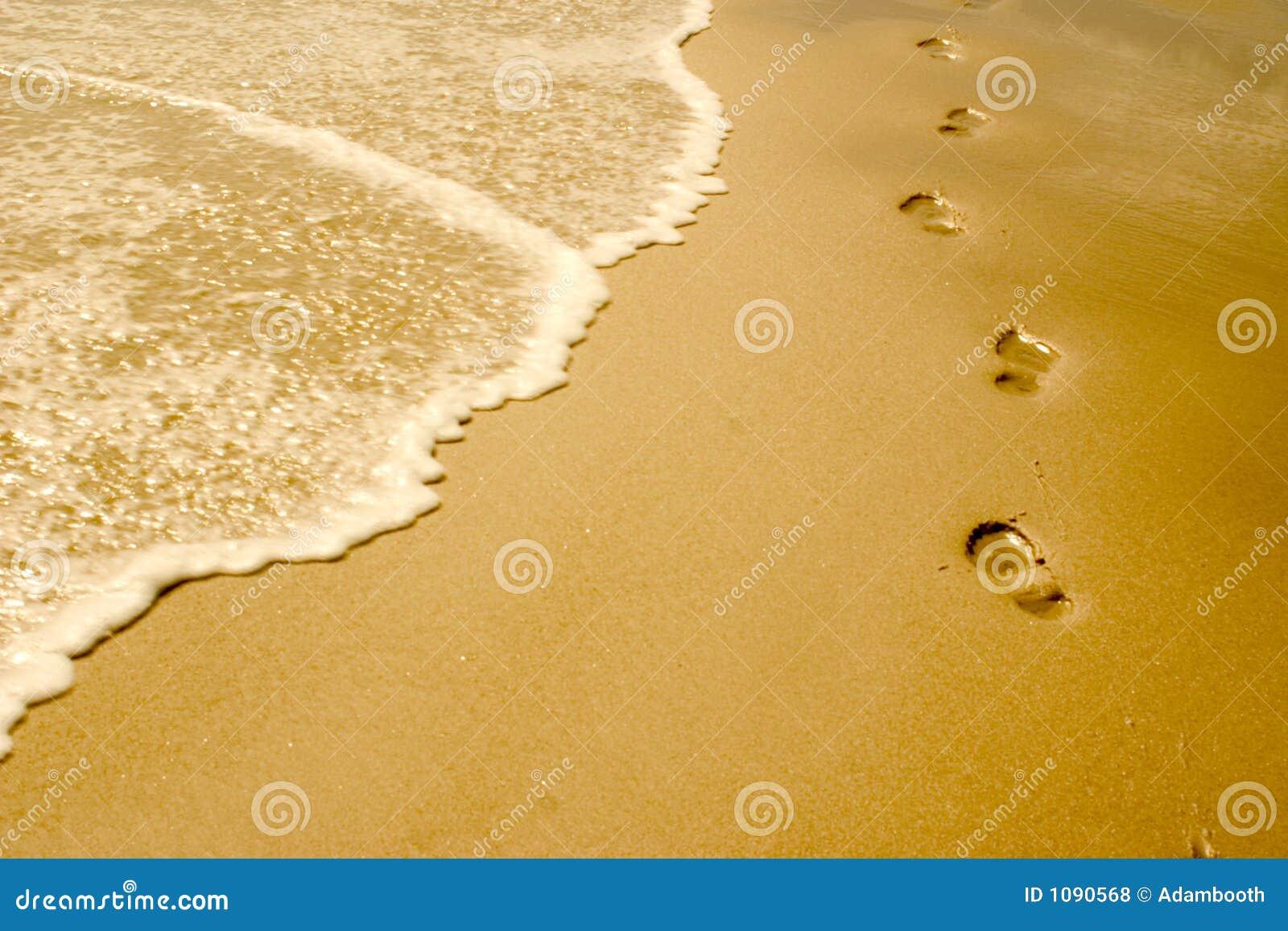 De Voetstappen van het strand