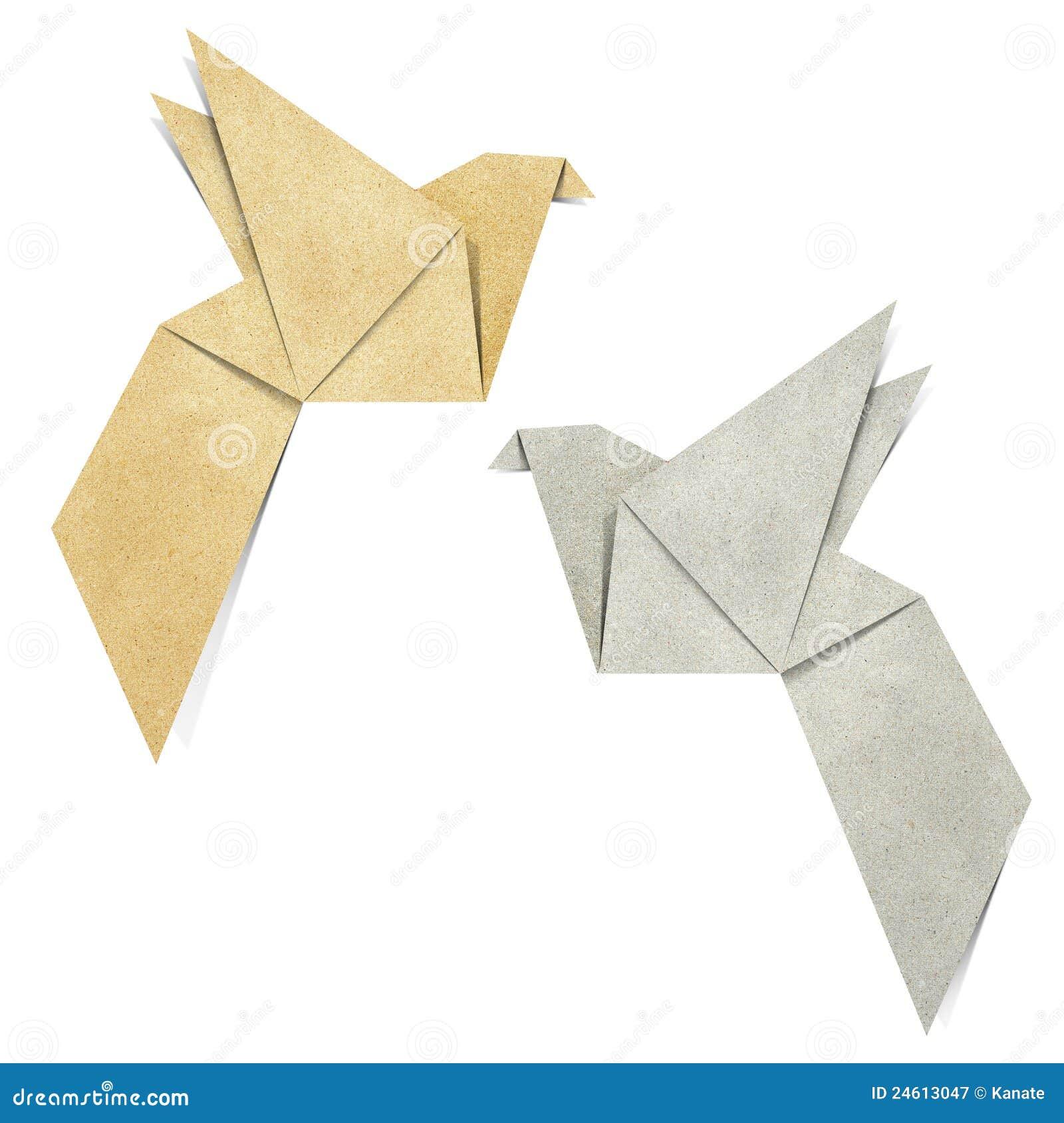 De Vogel van de origami stock illustratie. Illustratie ... - photo#14