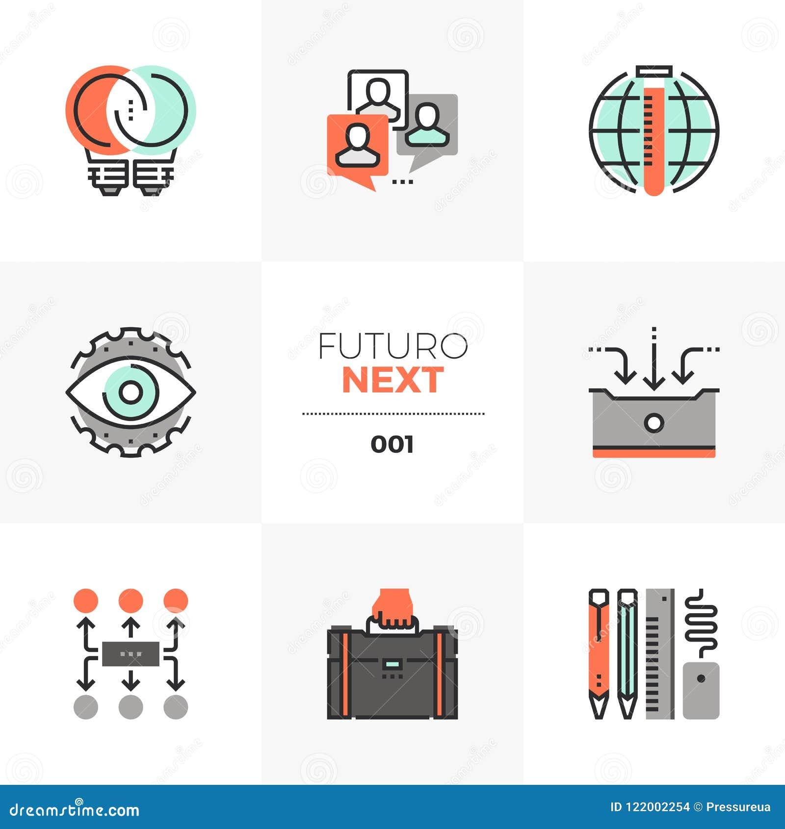 De Volgende Pictogrammen van bedrijfsontwikkelingsfuturo