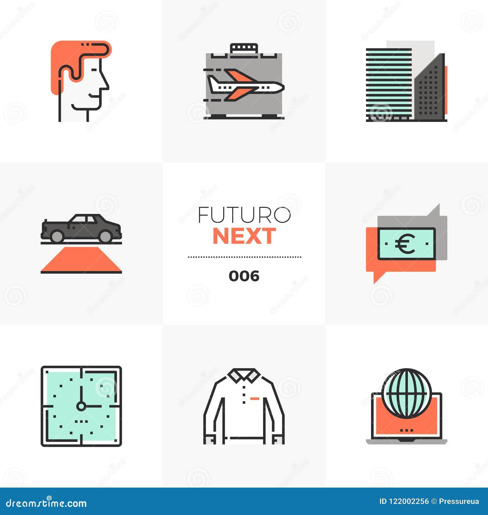 De Volgende Pictogrammen van Doing Business Futuro