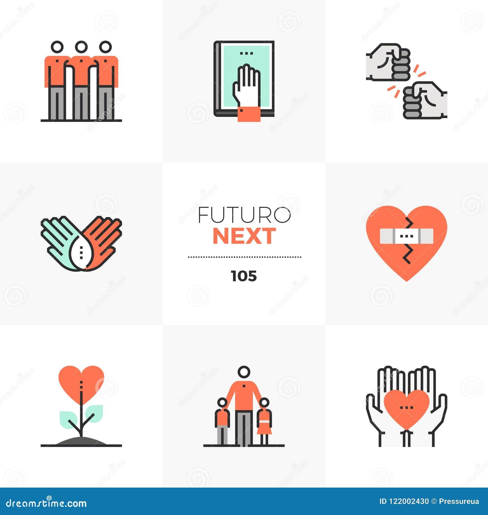 De Volgende Pictogrammen van Futuro van de vriendschapscultuur