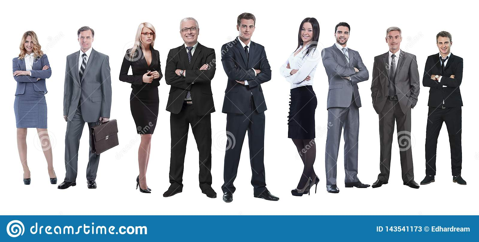 In de volledige groei professioneel commercieel die team op wit wordt geïsoleerd