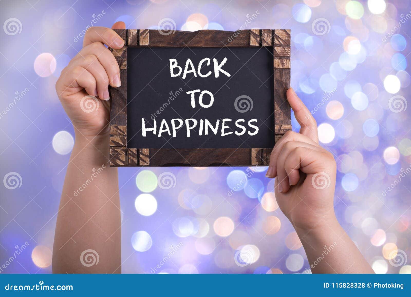 De volta à felicidade