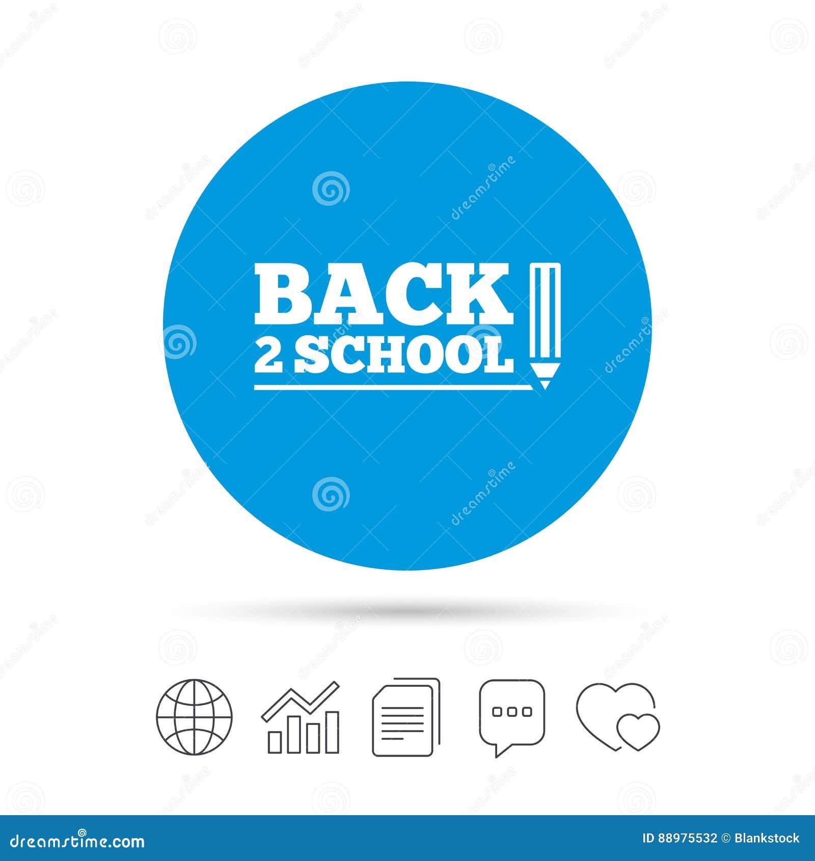 De volta ao ícone do sinal da escola Símbolo da escola da parte traseira 2