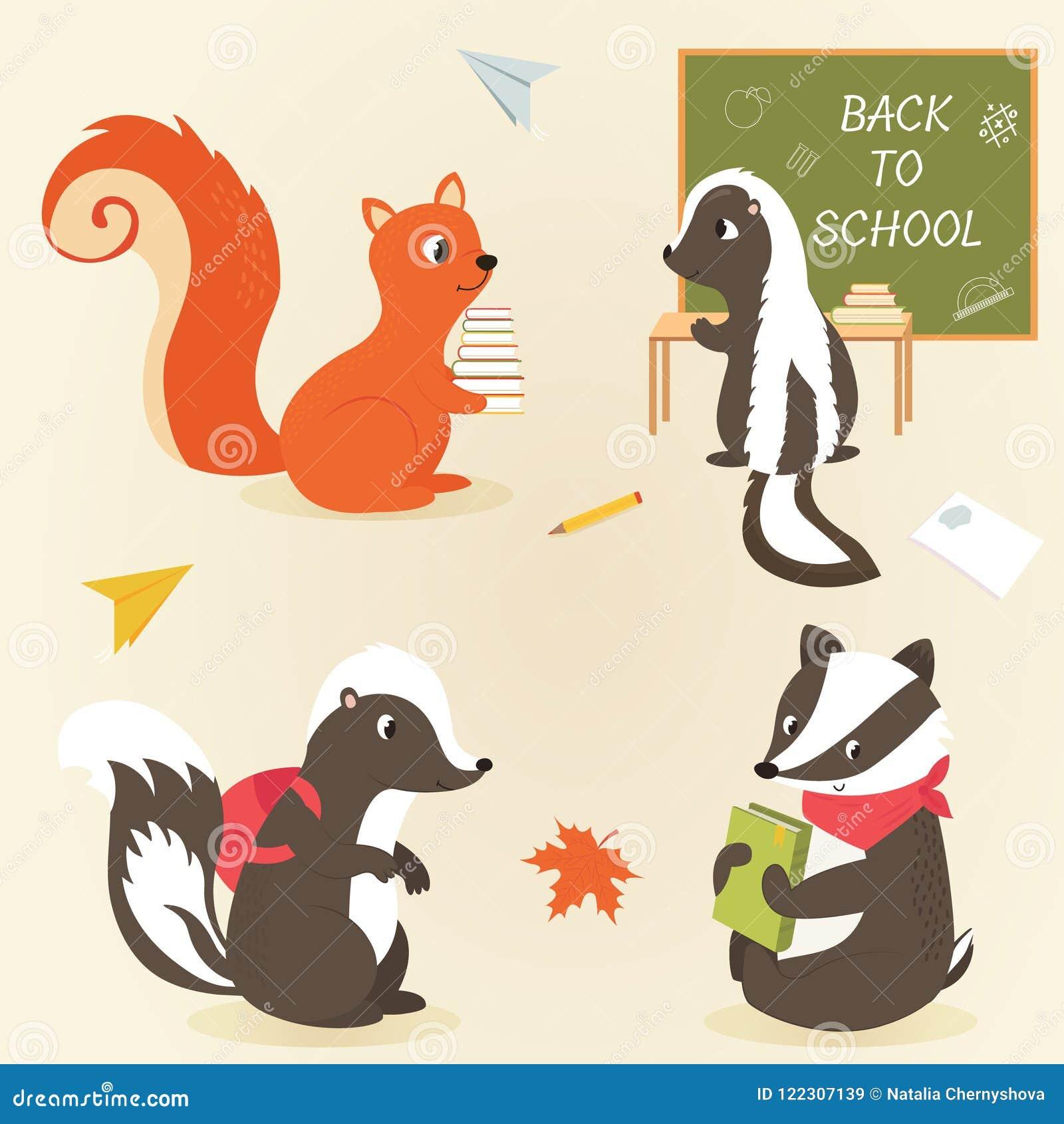 De volta ao projeto animal da educação de caráteres da escola