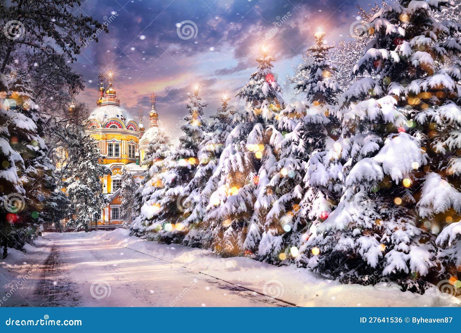 De vooravond van Kerstmis