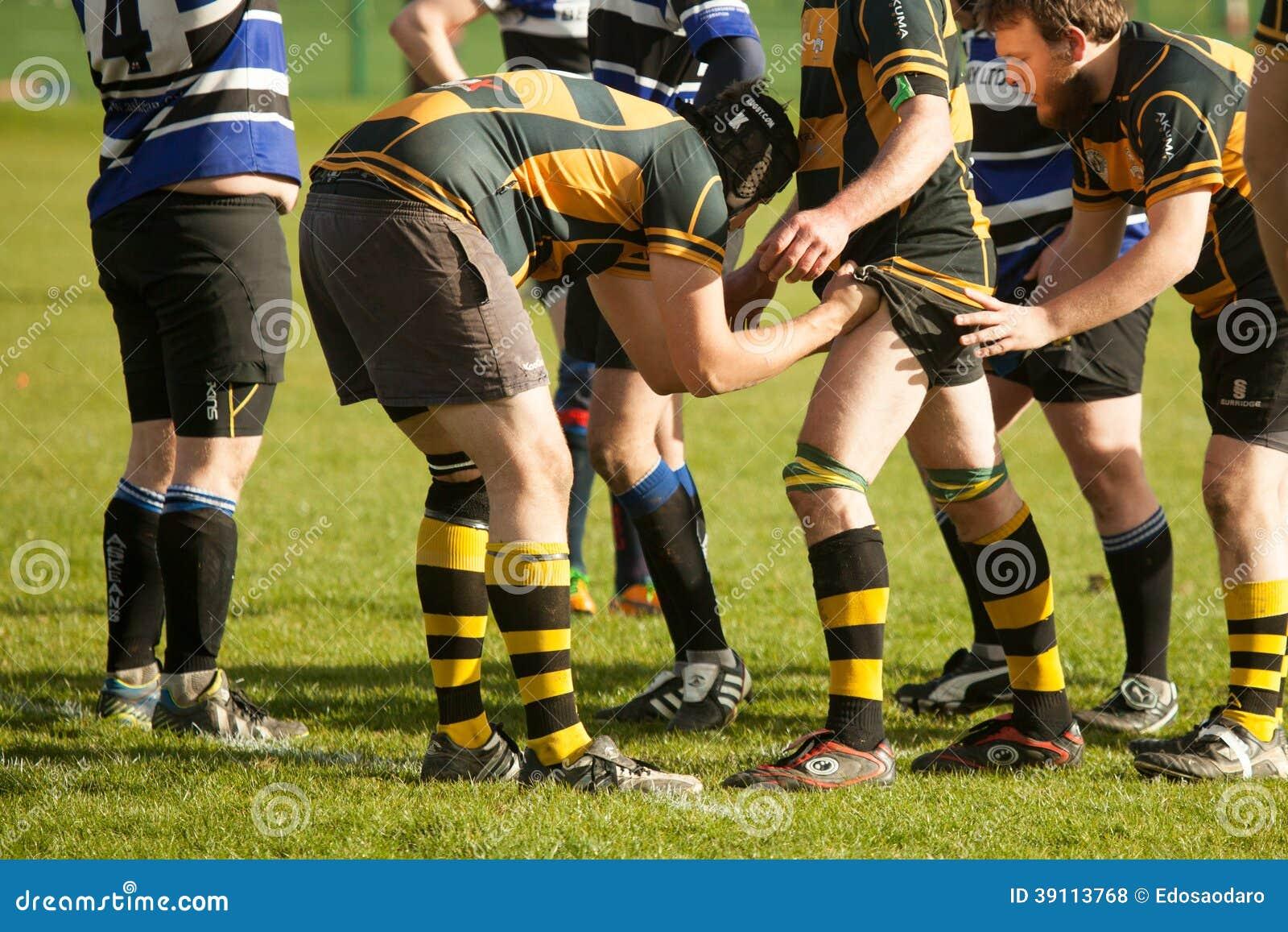 De Voorbereiding van rugbylineout