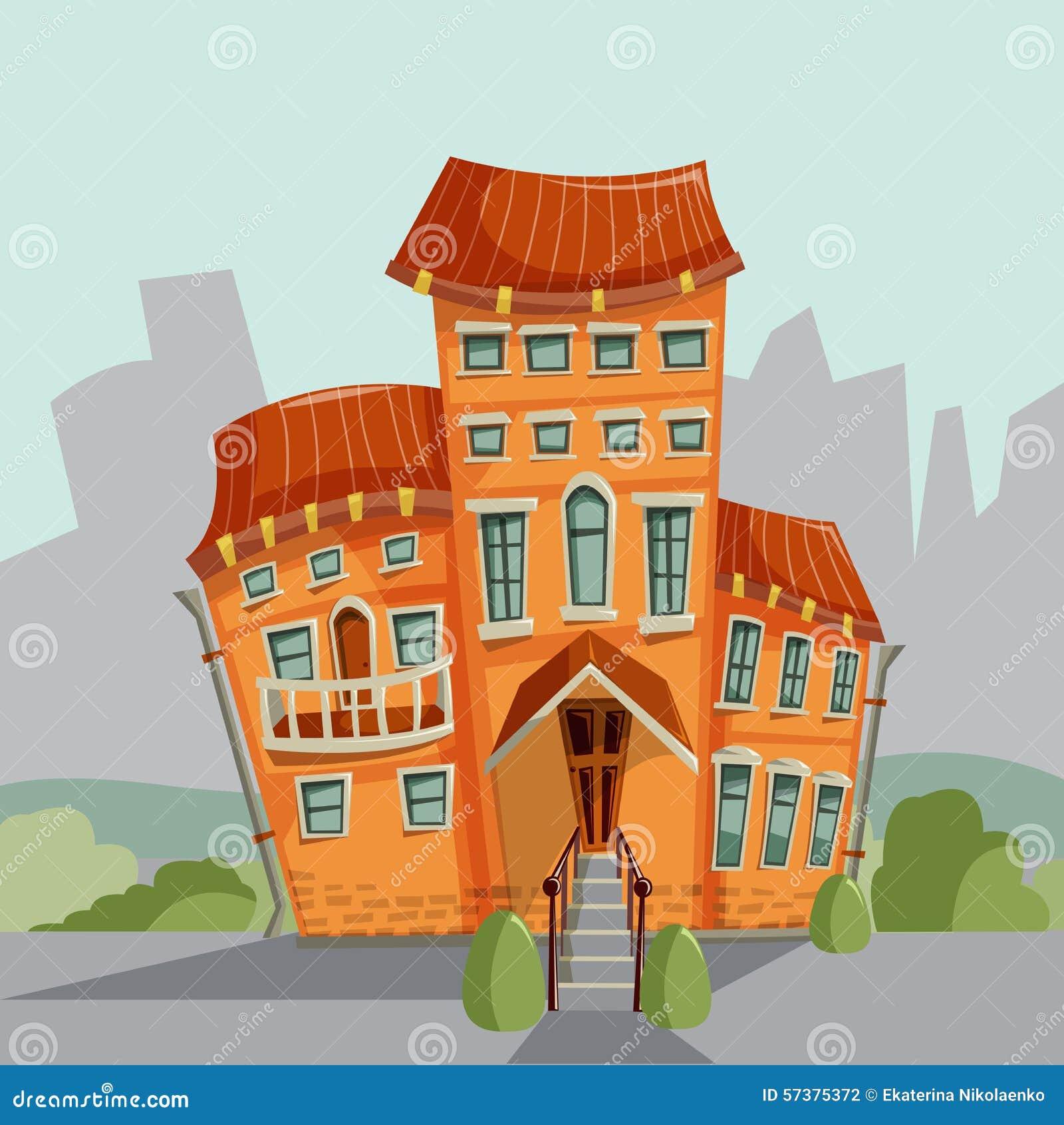 De voorgevels van het stadshuis Vector illustratie