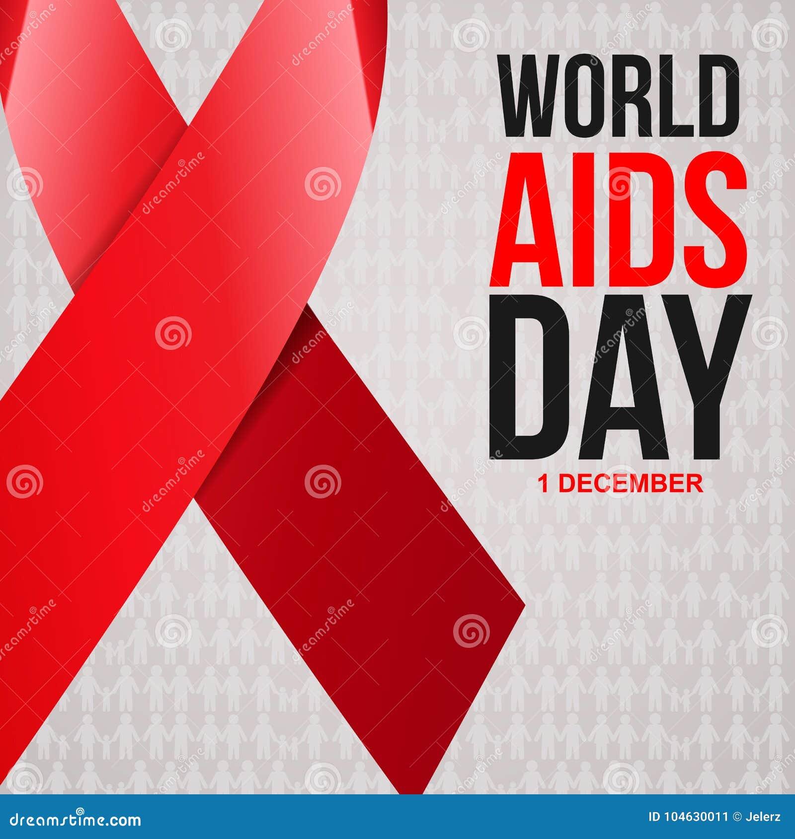 Download De Voorlichtings Rood Lint Van De Hulp De Wereld Helpt Dagconcept Vector Illustratie - Illustratie bestaande uit besmetting, mensen: 104630011