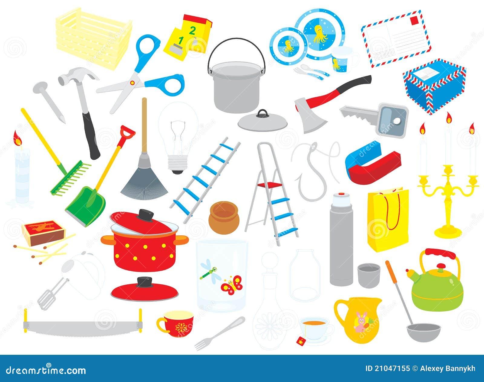 De voorwerpen van het huis vector illustratie afbeelding bestaande uit doos 21047155 - Amenager een voorgerecht van het huis ...